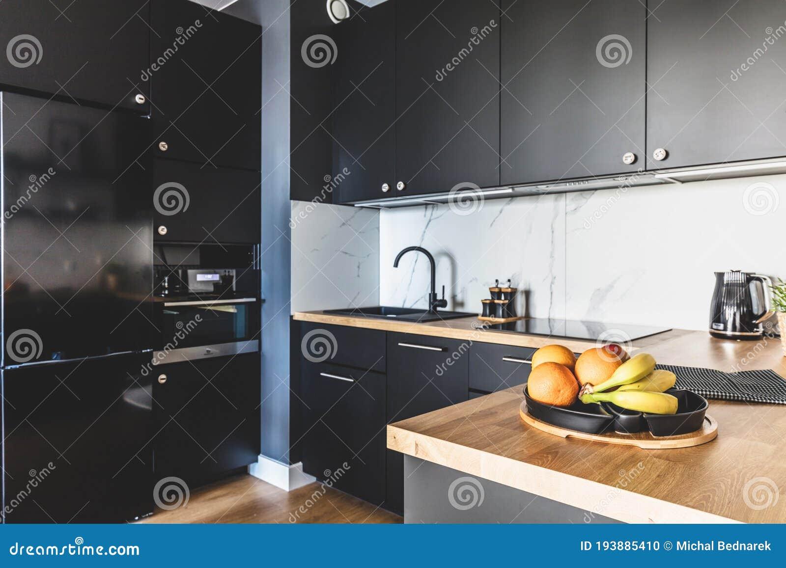 Kitchen In A Modern Studio Apartment For Rent Interior Design Stock Photo Image Of Decoration Design 193885410