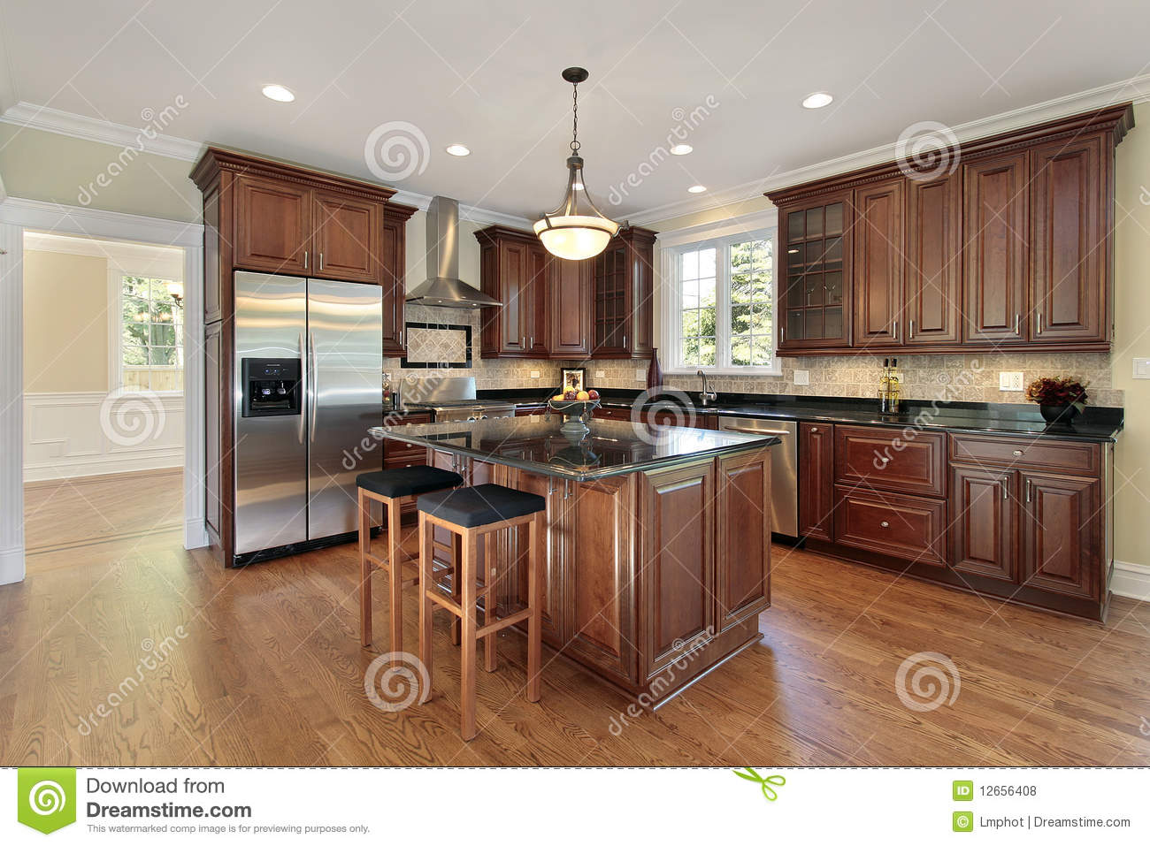 Kitchen in new construction home royalty free stock photos for Building a new kitchen