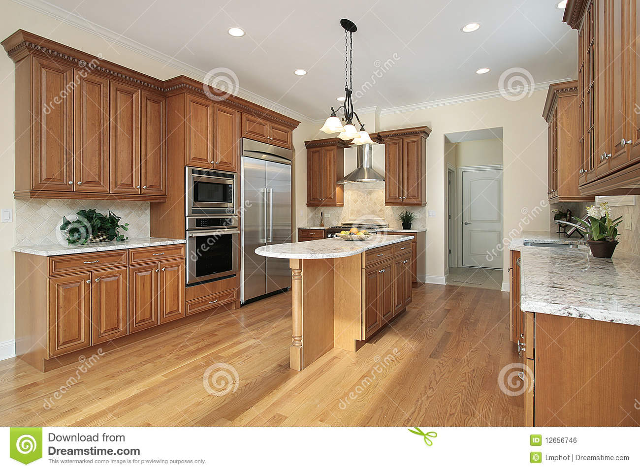 Kitchen in new construction home royalty free stock image for Building a new kitchen