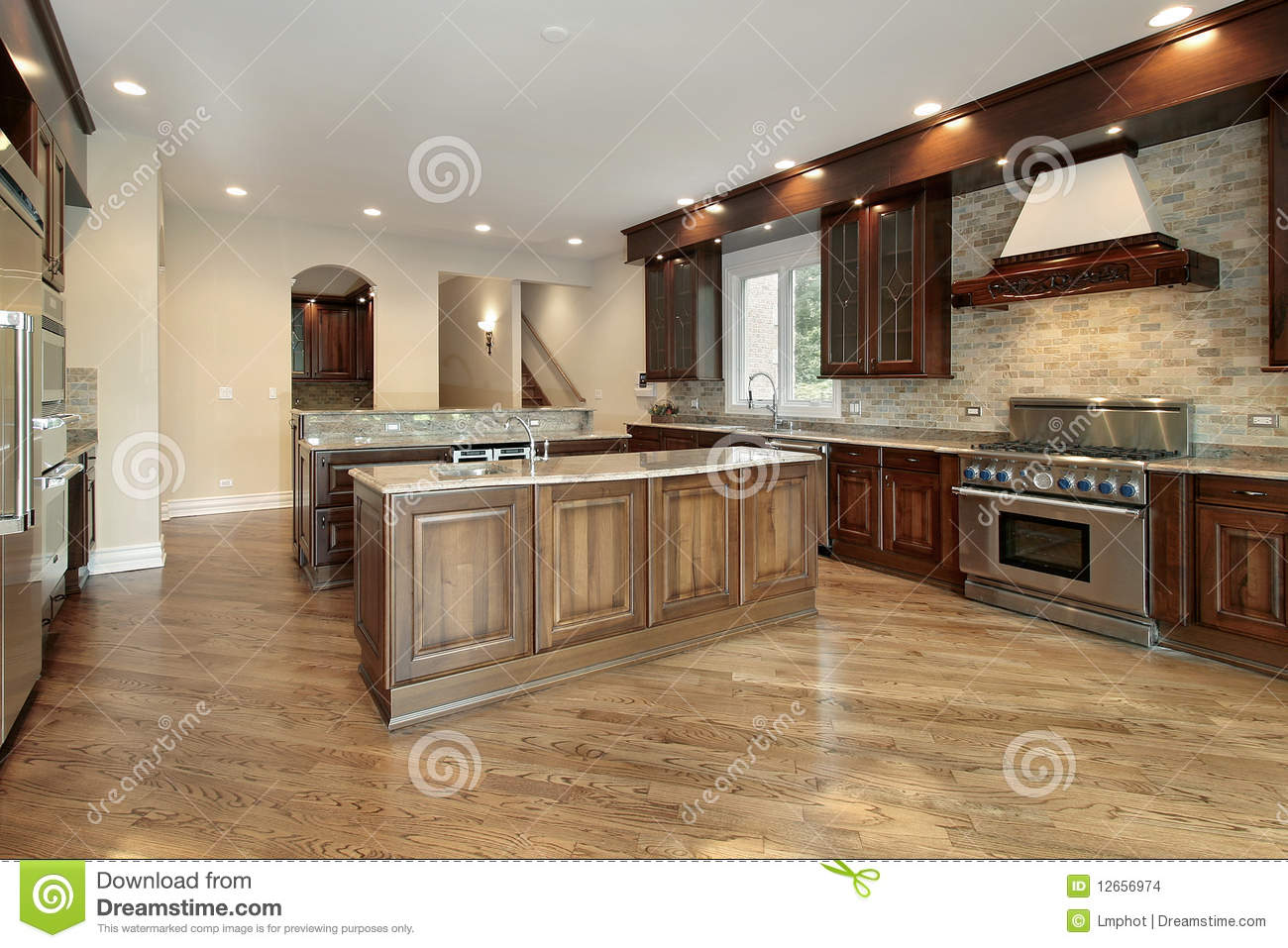Kitchen in new construction home stock images image for Building a new kitchen