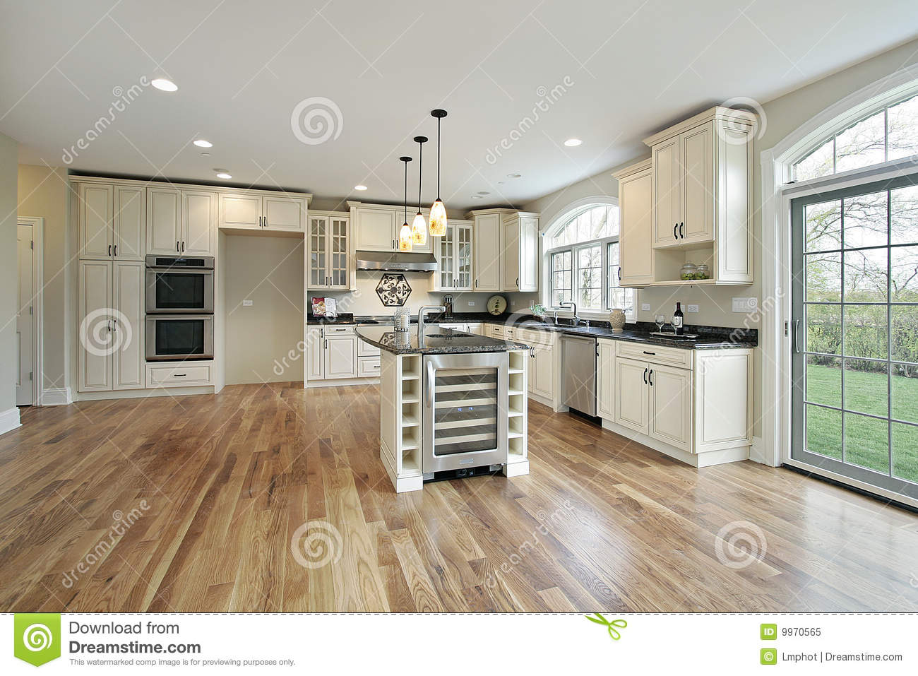 Kitchen in new construction home royalty free stock photo for Building a new kitchen