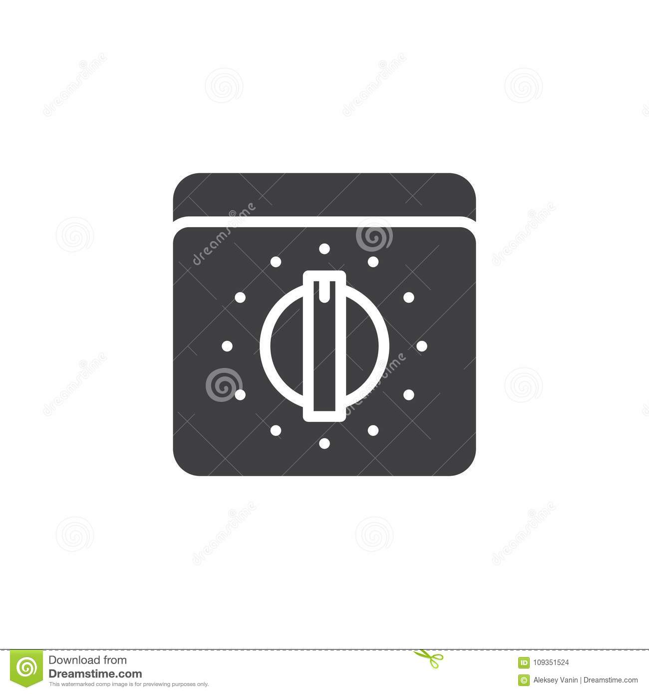 Kitchen Oven Knob With Timer Icon Vector Stock Vector Illustration