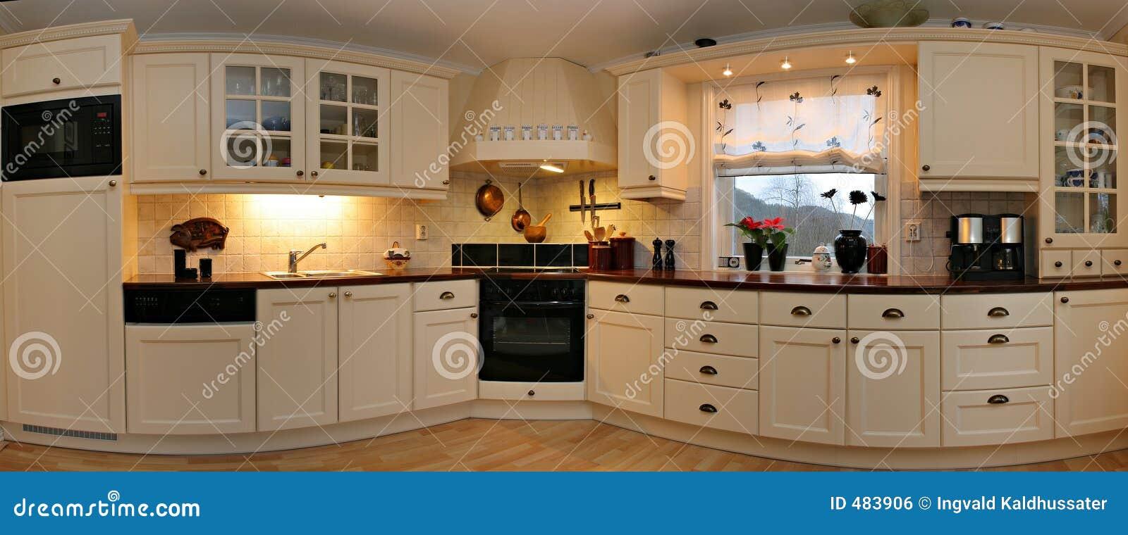 Kitchen Panorama Royalty Free Stock Image Image 483906
