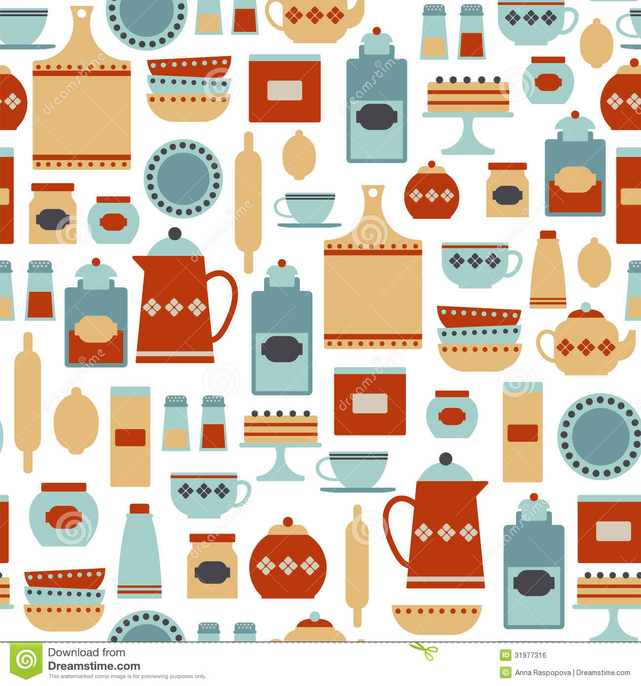 Kitchen Pattern Royalty Free Stock Image Image 31977316