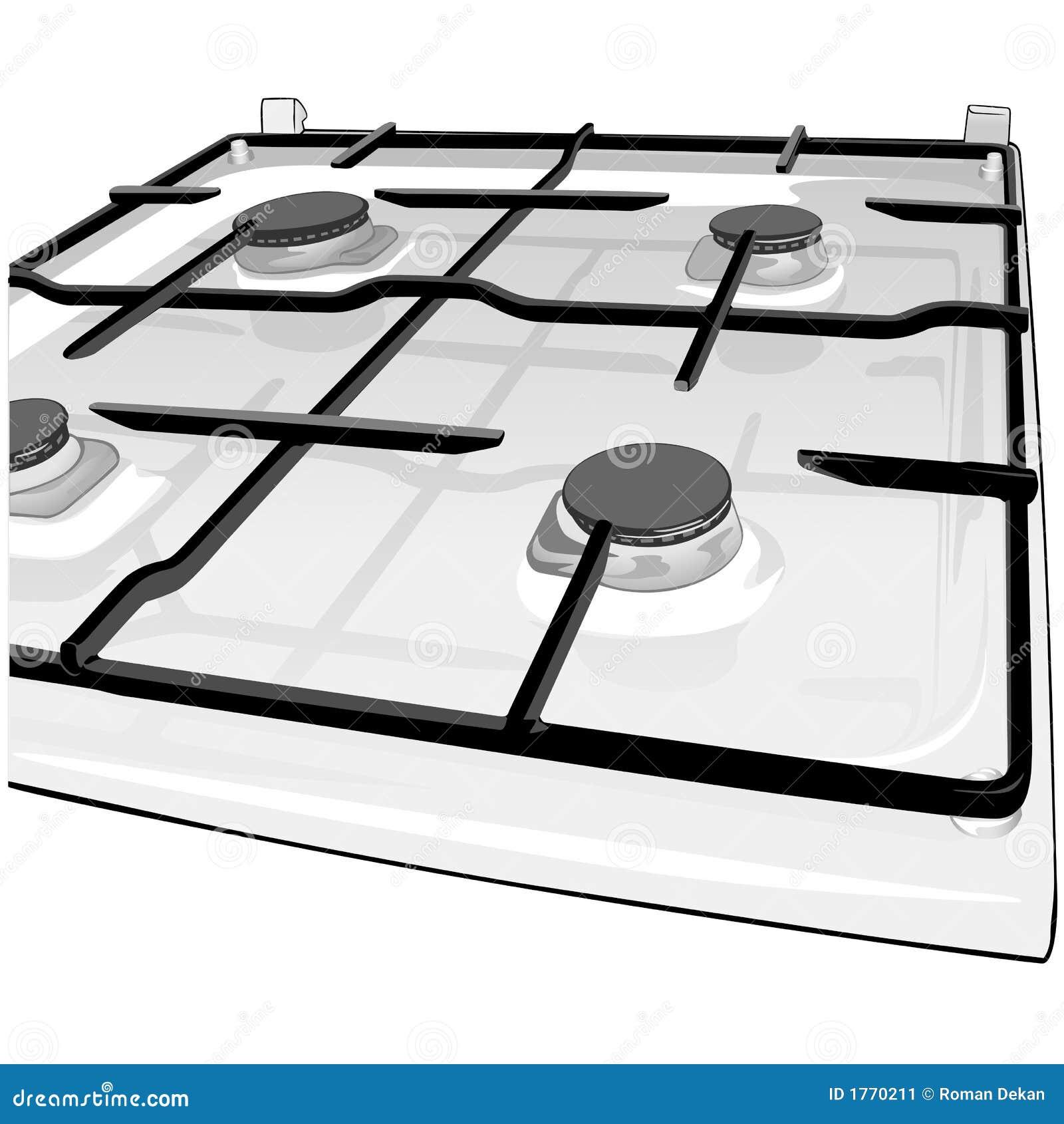 kitchen range stock image - image: 1770211