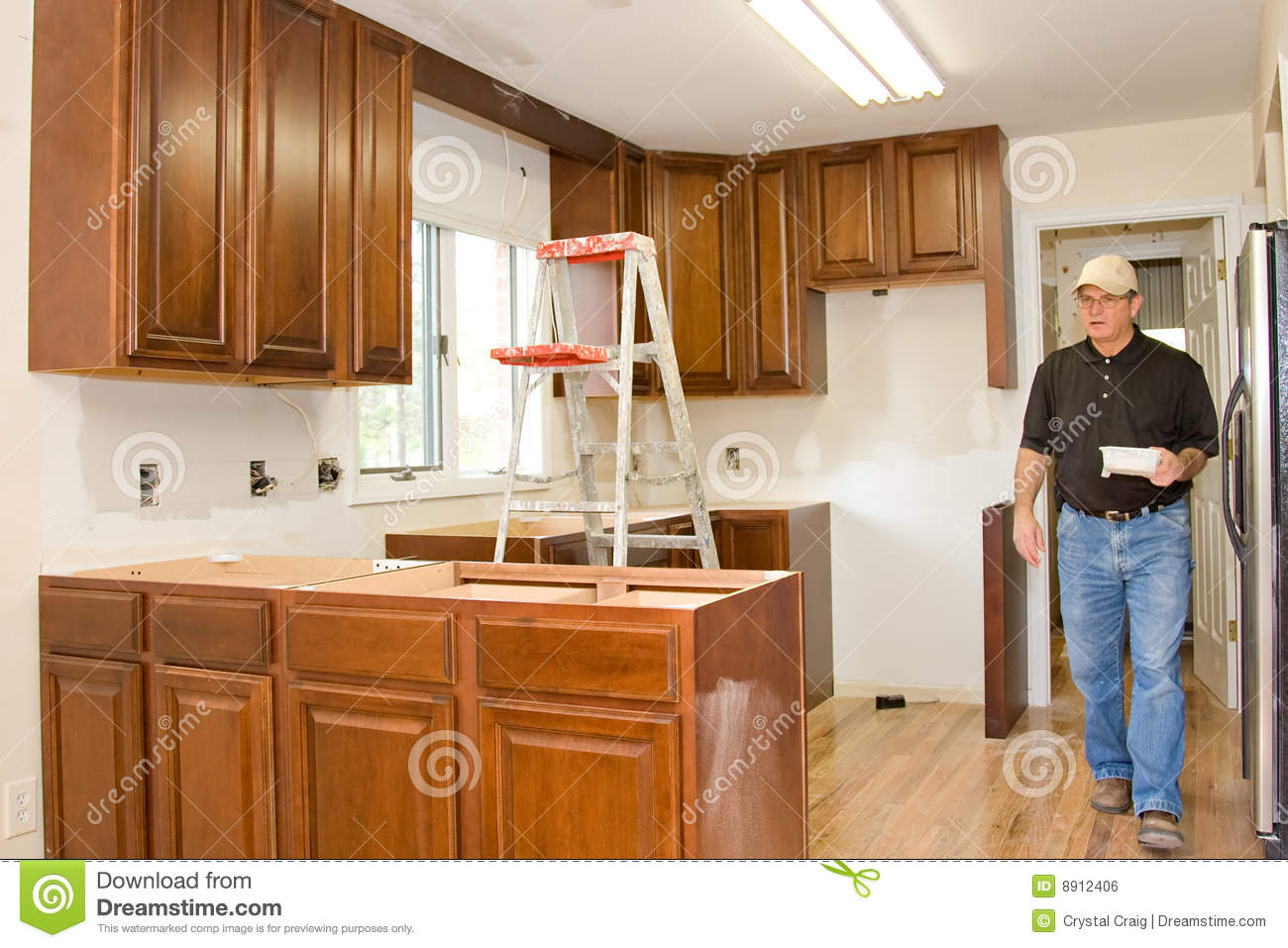 Kitchen remodel cabinets home improvement royalty free for Kitchen home improvement