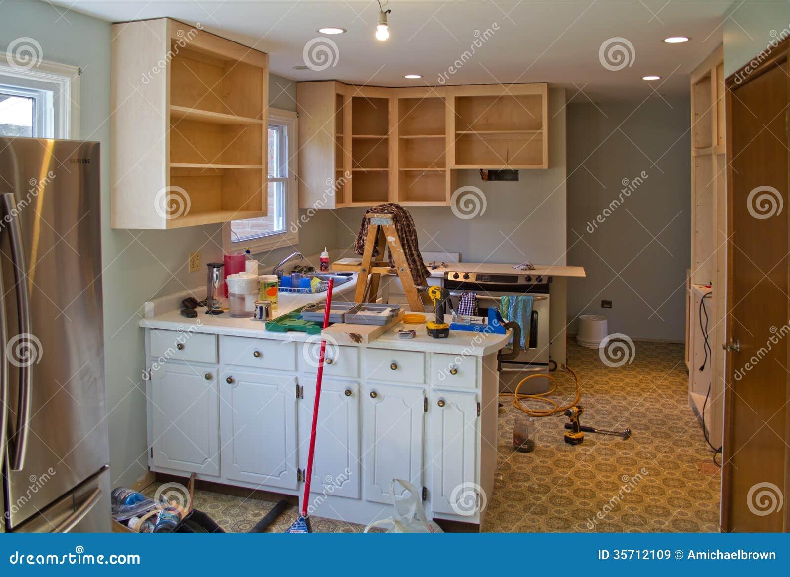Kitchen Renovation In Progress Kitchen Renovation Royalty Free Stock Images  Image 35712109