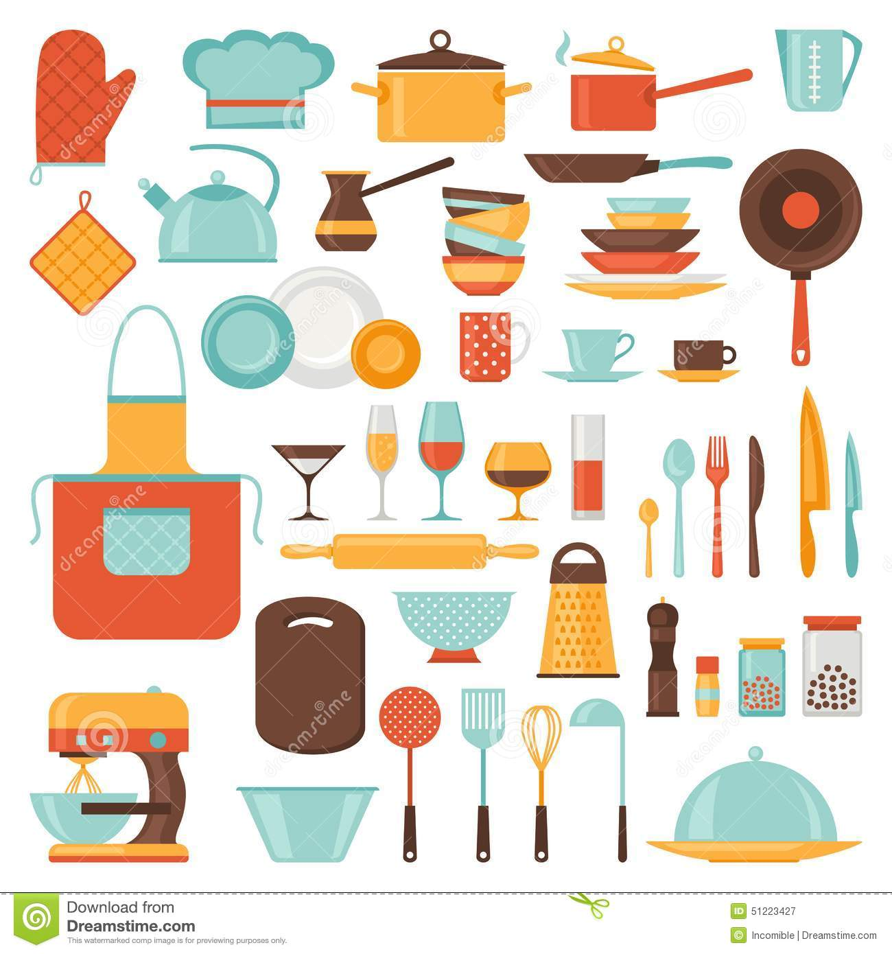 Teapot kitchen tool isolated icon stock illustration for Kitchen set up for restaurant