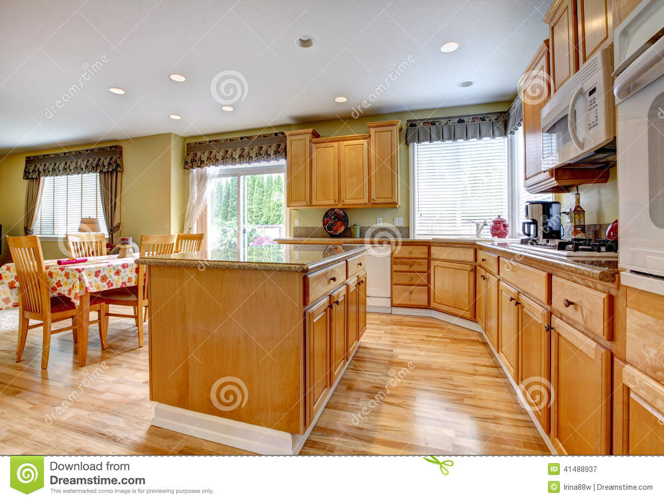 kitchen room with dining area stock photo image 41488937. Black Bedroom Furniture Sets. Home Design Ideas