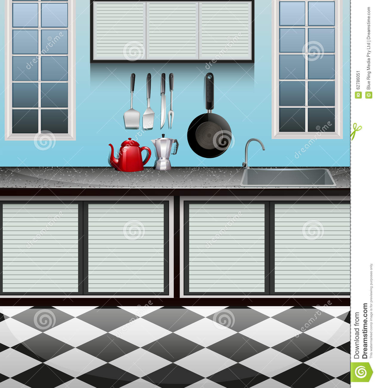Cartoon kitchen counter gallery - Filename Kitchen Room Sink Counter Illustration 62786051 Jpg View Image