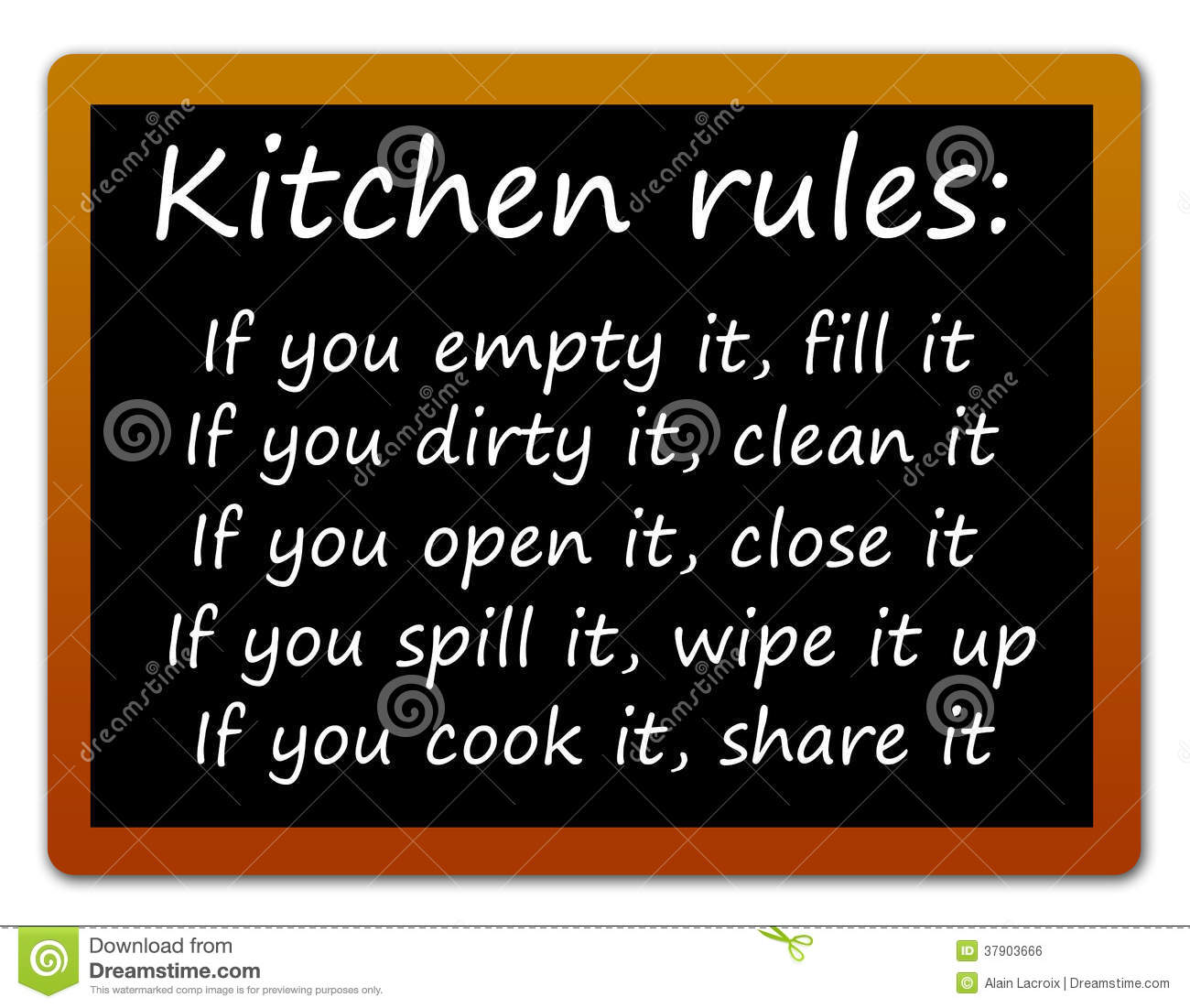 Kitchen Rules Royalty Free Stock Image