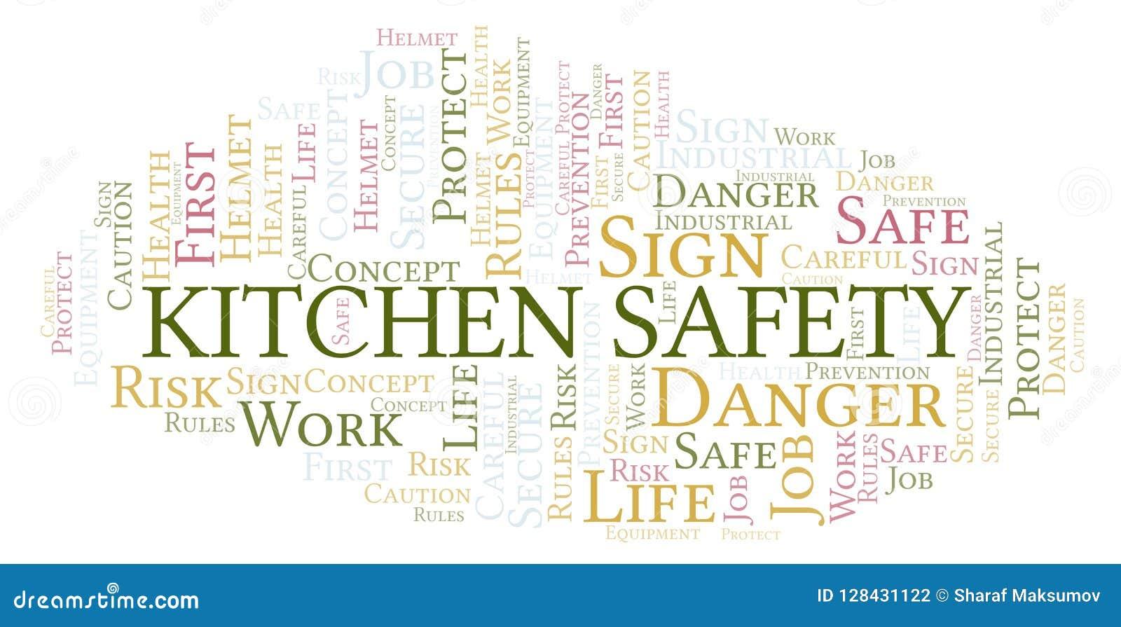 Kitchen safety word cloud