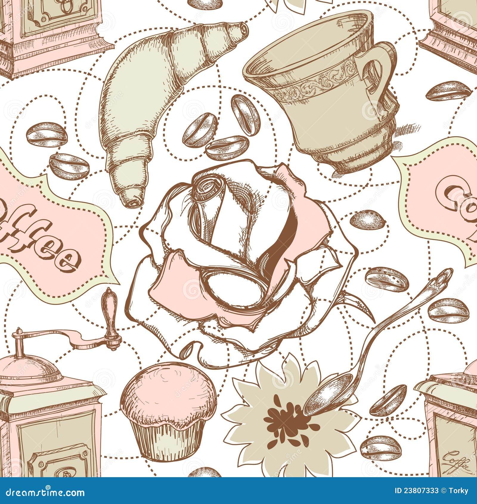 Kitchen seamless pattern stock vector. Illustration of pattern ...