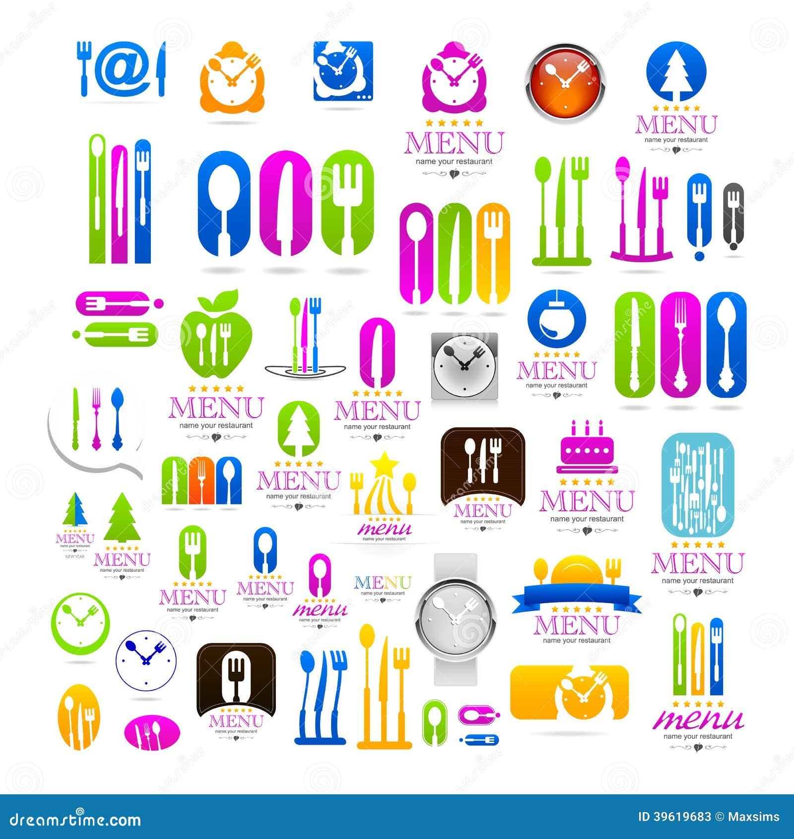kitchen set business logo web icons sign stock vector image business icons kitchen logo