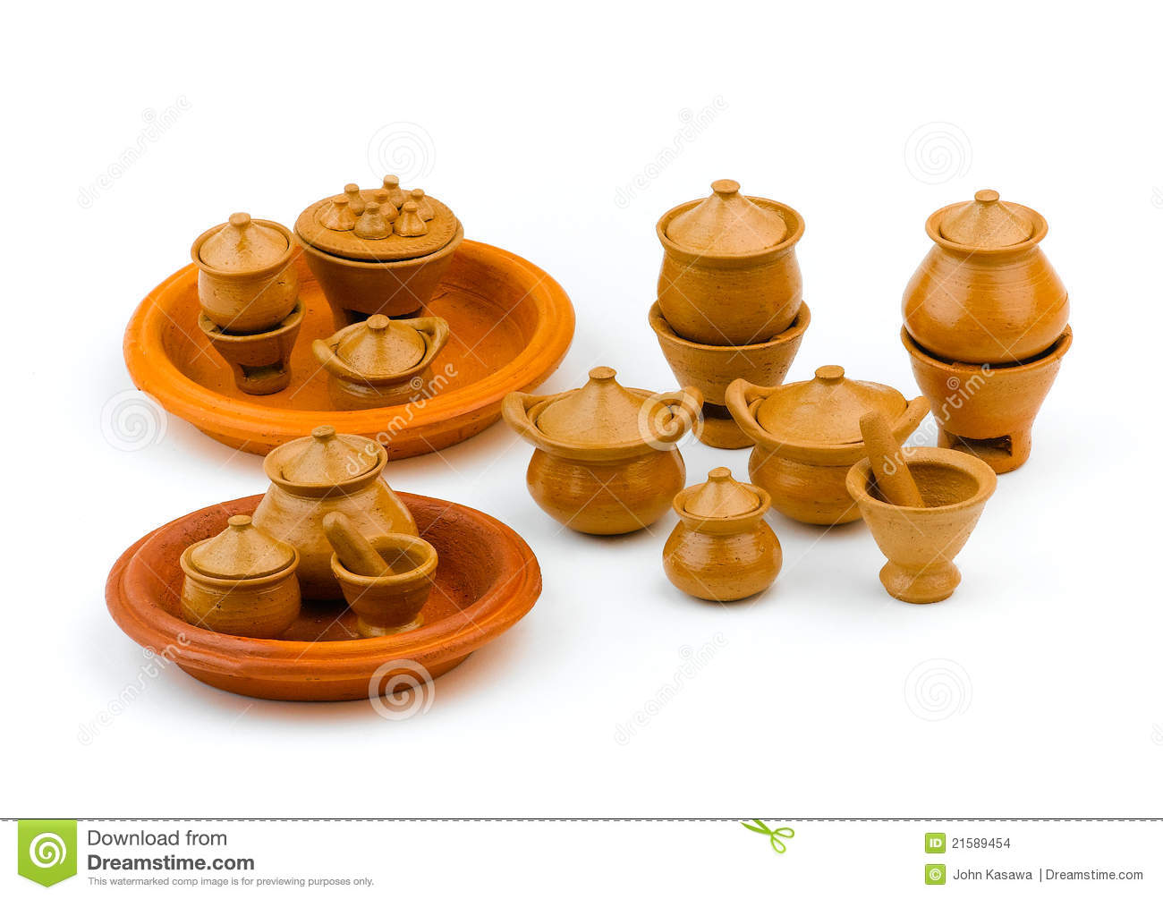 kitchen set children clay toys stock photo image 21589454
