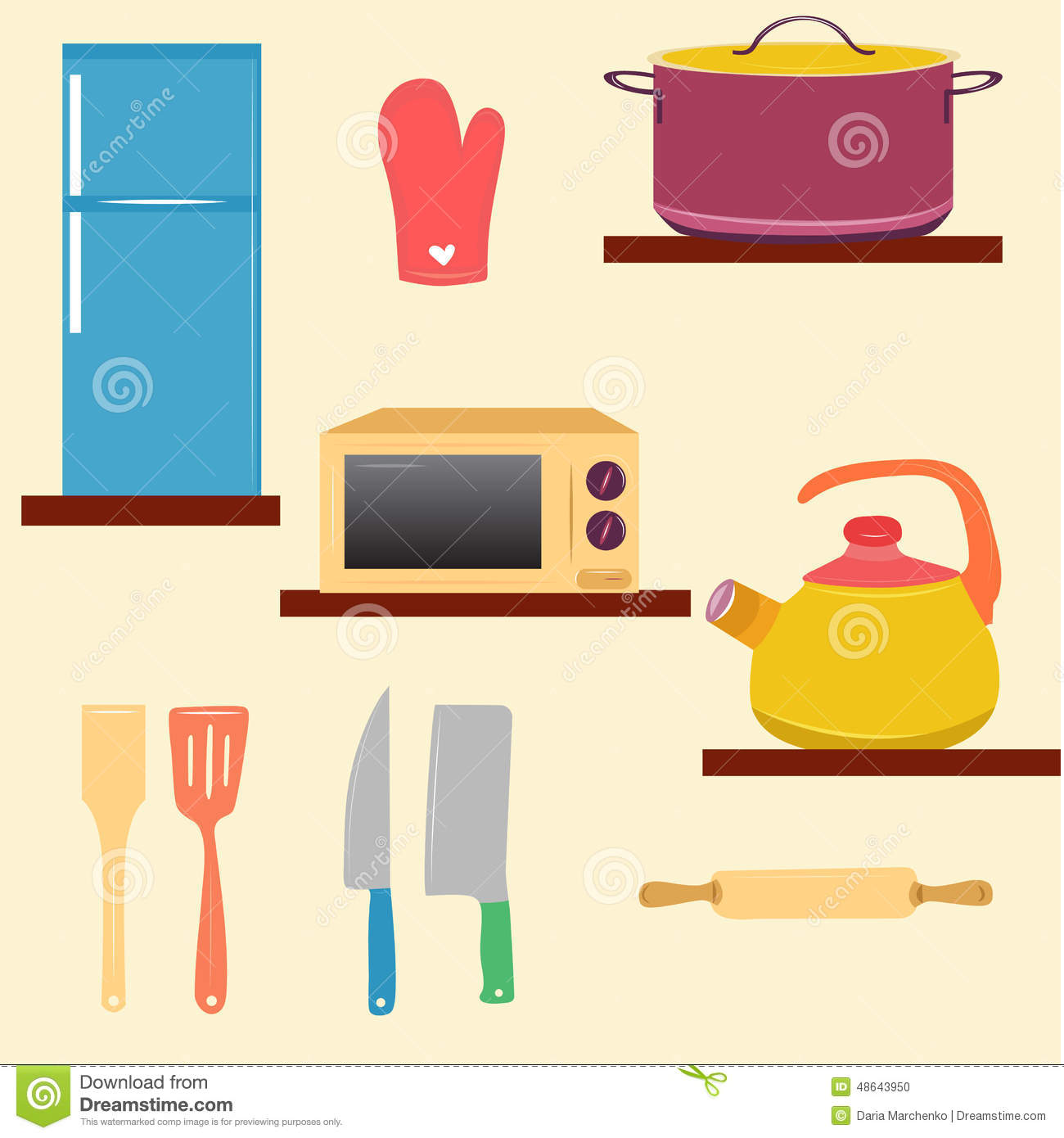 Kitchen set stock vector image 48643950 for Kitchen set vector