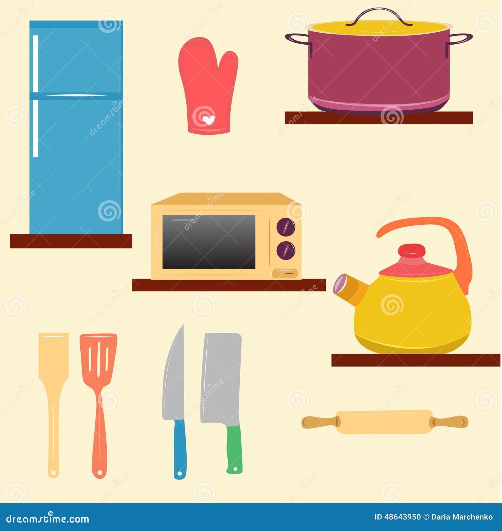 Kitchen set stock vector image 48643950 for Kitchen set vector