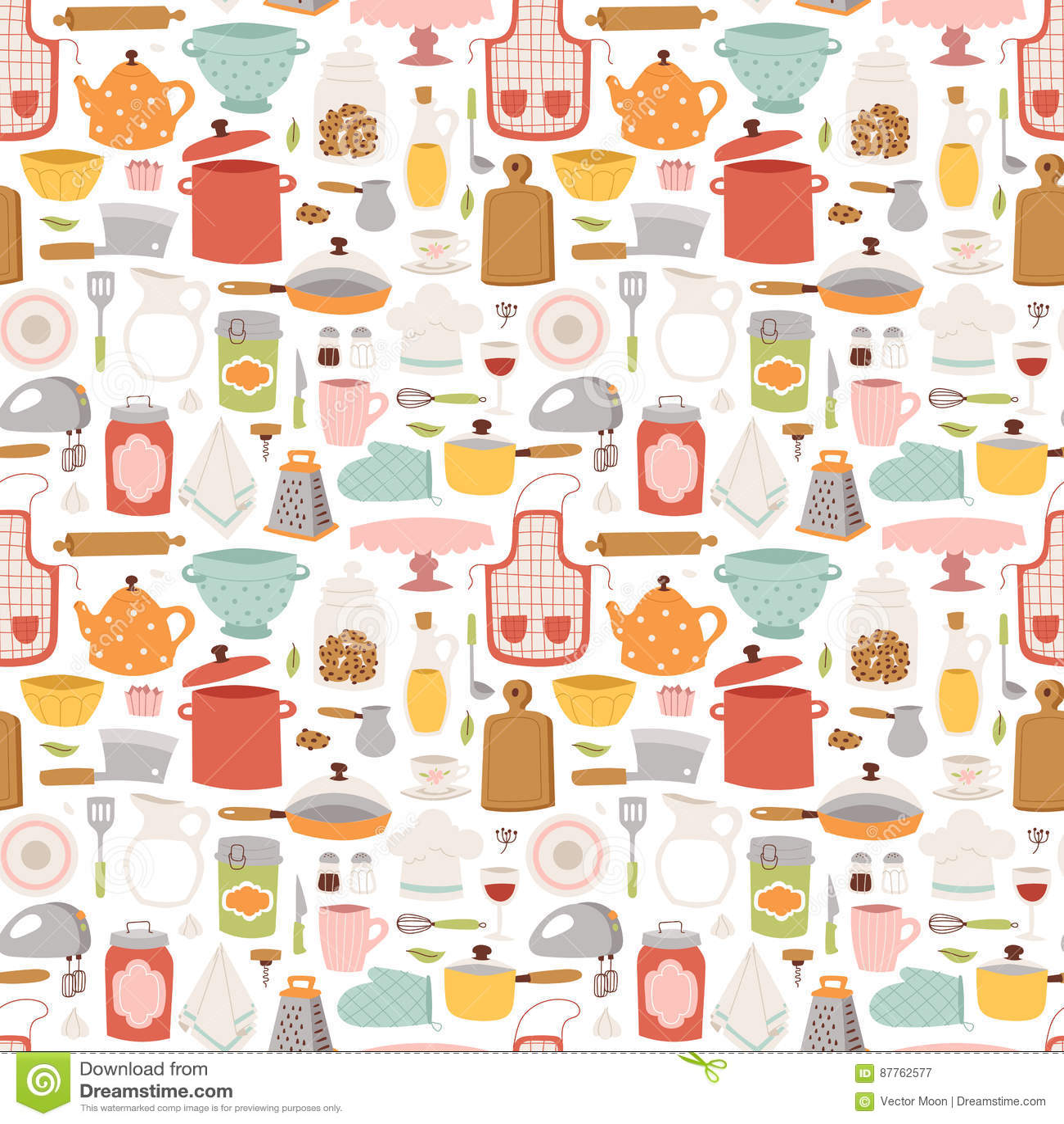 Kitchen set icon seamless pattern vector illustration for Kitchen set vector