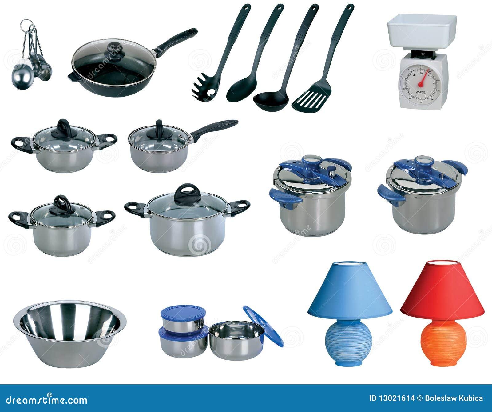 Kitchen set isolated on white background stock images for Kitchen set white