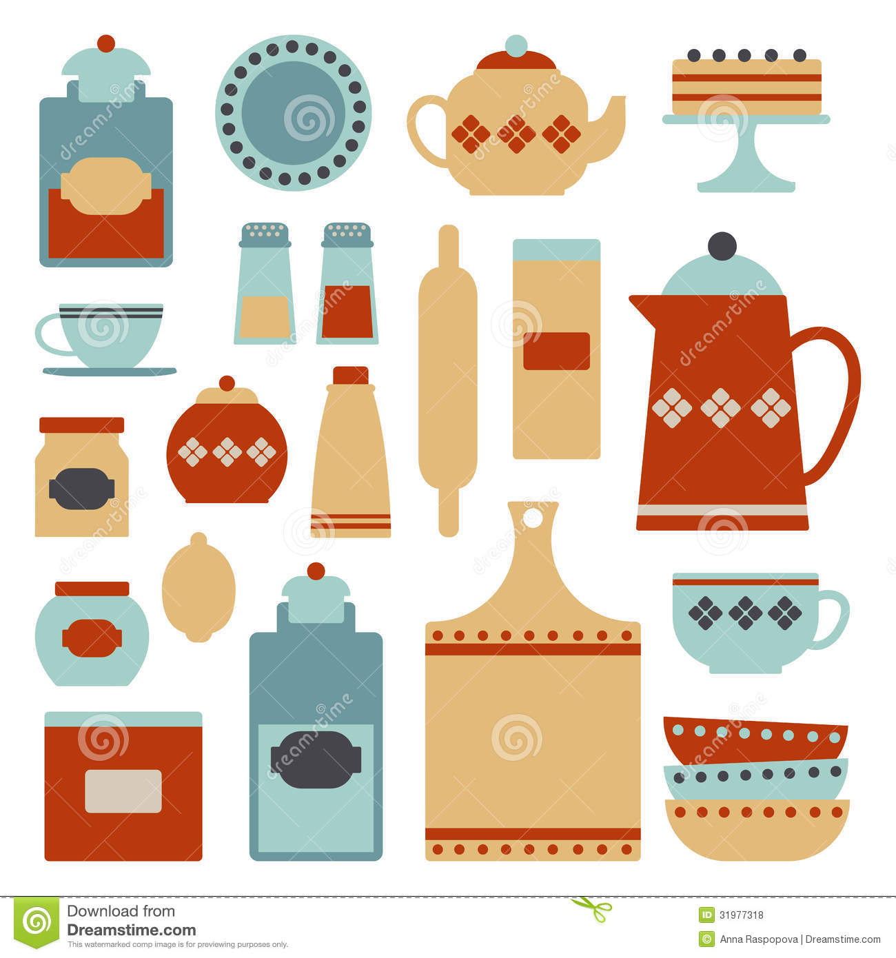 Kitchen Set Stock Vector. Image Of Accessory, Design