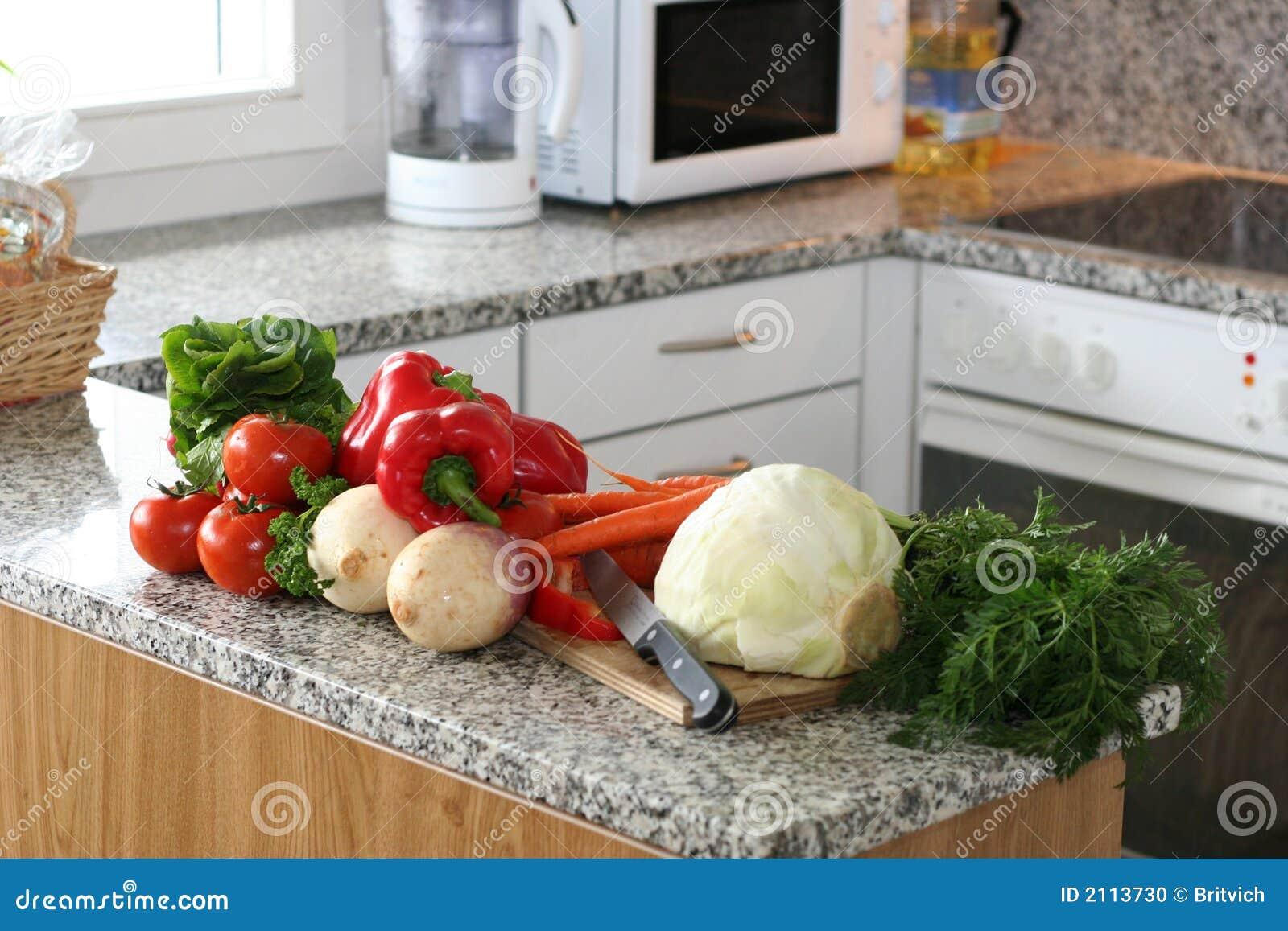 Kitchen setup with vegetables stock photo image 2113730 for Kitchen setup