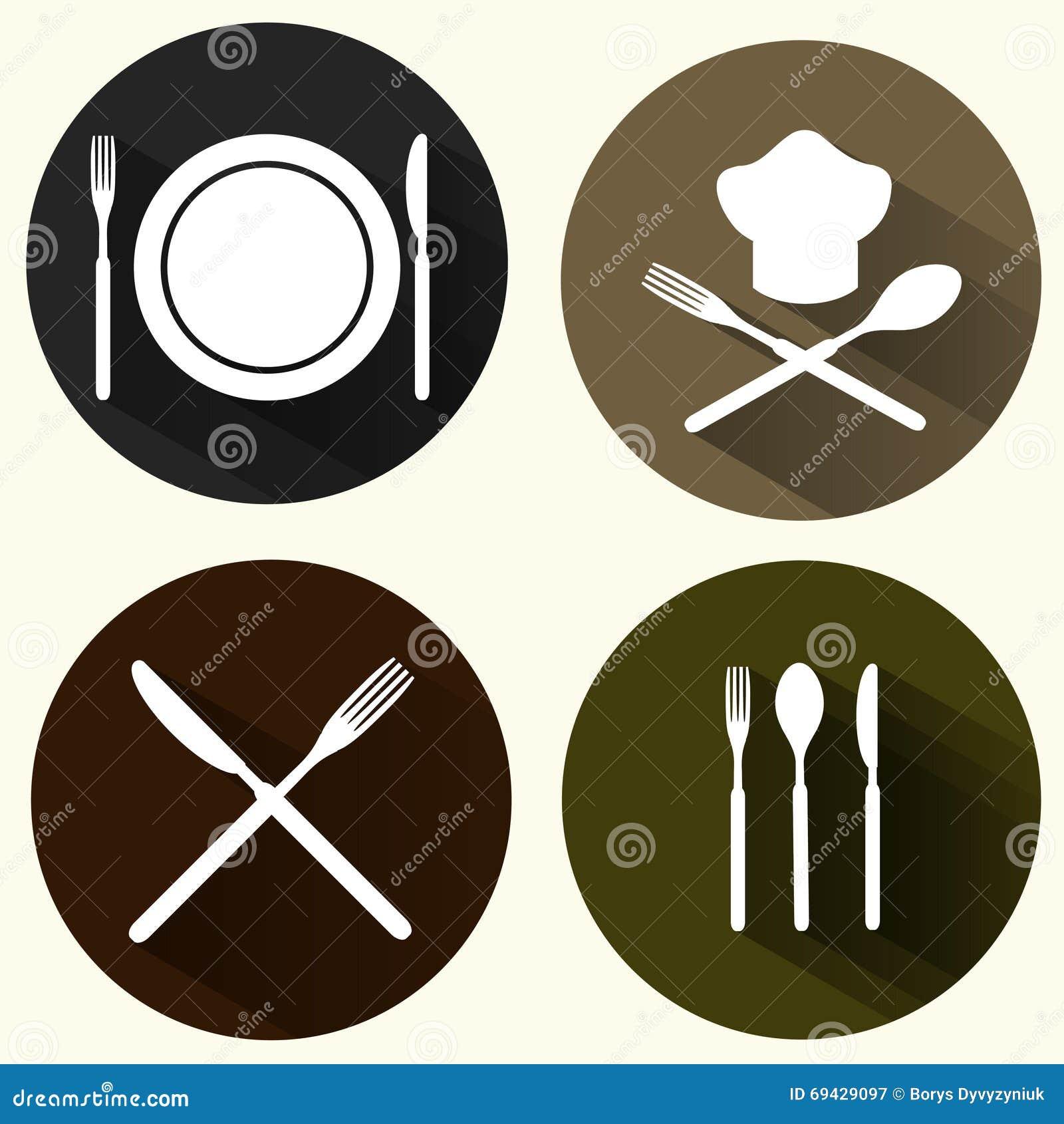 Kitchen signs set stock illustration illustration of cooking kitchen signs set buycottarizona Choice Image