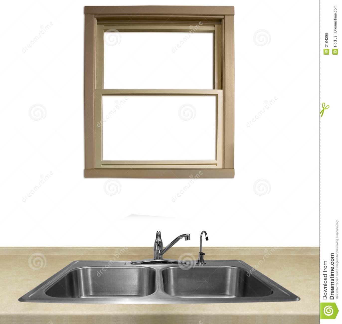 Kitchen Sink And Counter Royalty Free Stock Images