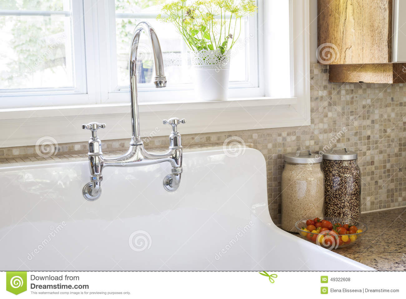 Kitchen Sink And Faucet Stock Photo Image Of Inside