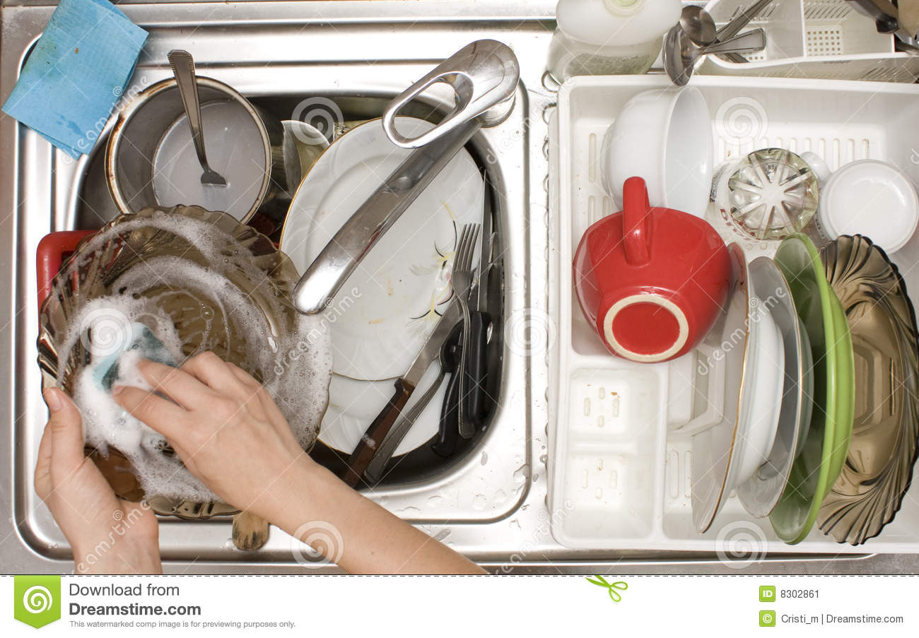 Kitchen Sink With Dishes kitchen sink full with dishes stock photos - image: 8302853