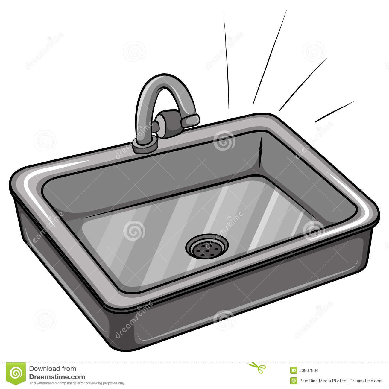 A Kitchen Sink Stock Vector