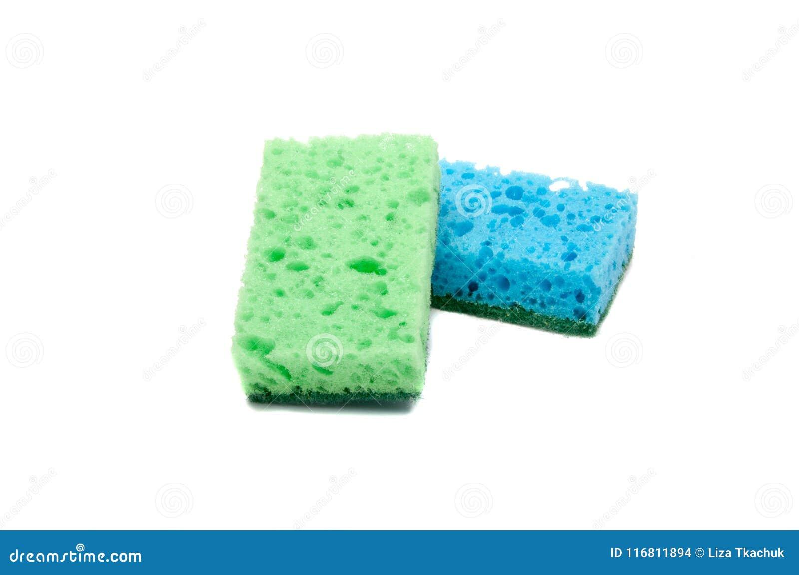 Kitchen Sponge For Dish Isolated Stock Photo - Image of isolated ...