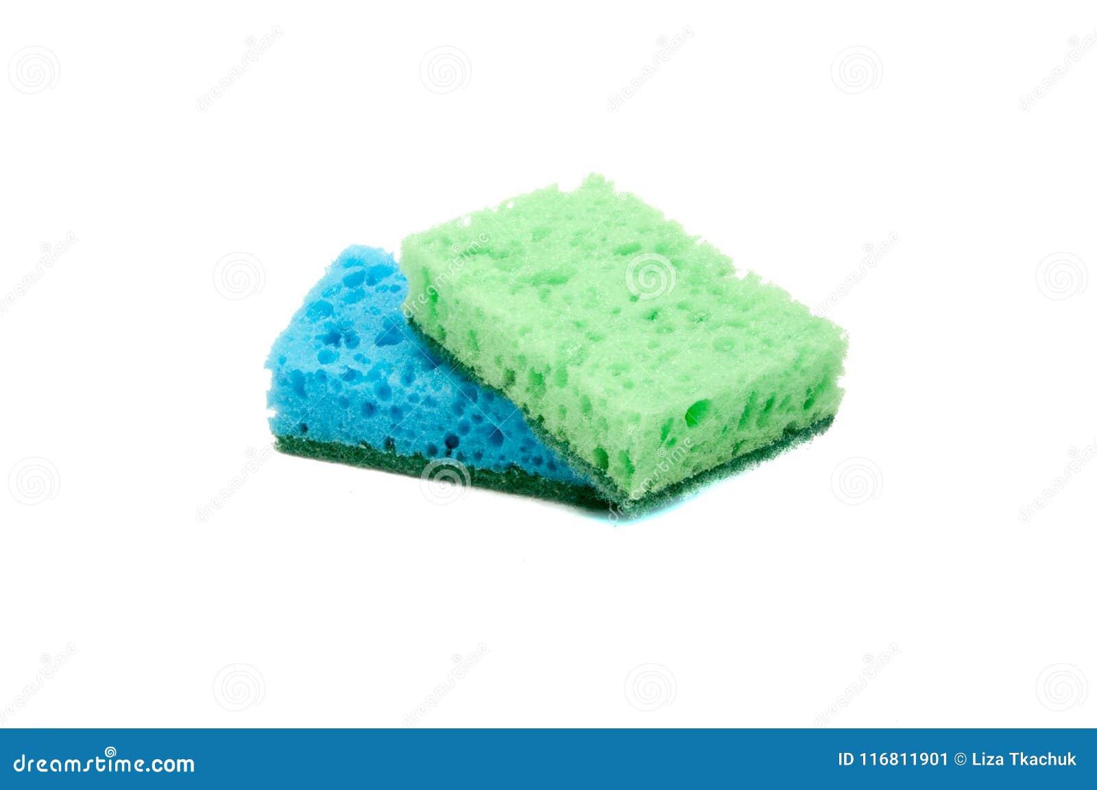 Kitchen Sponge For Dish Isolated Stock Image - Image of sponge ...