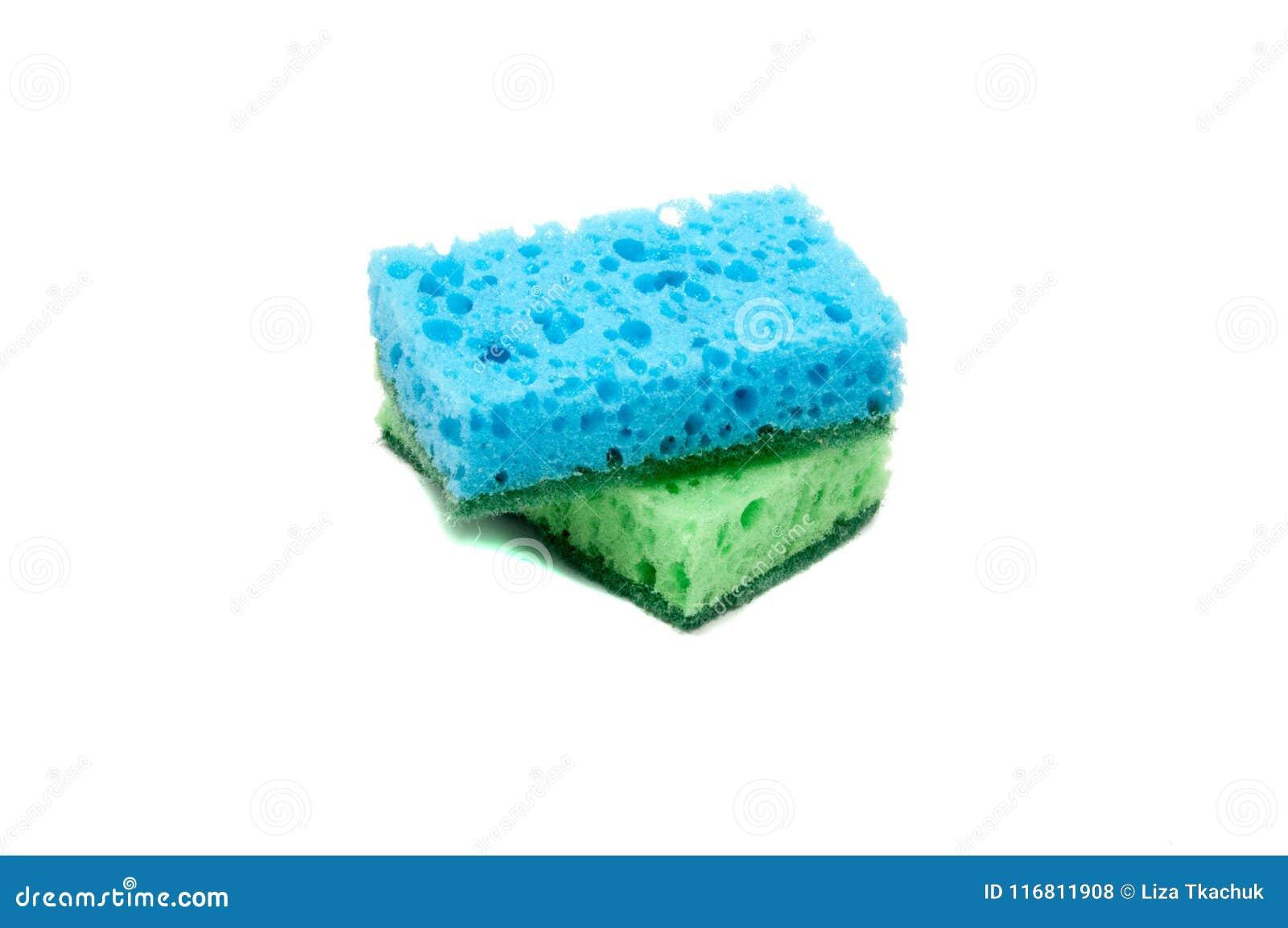 Kitchen Sponge For Dish Isolated Stock Photo - Image of dish, sponge ...