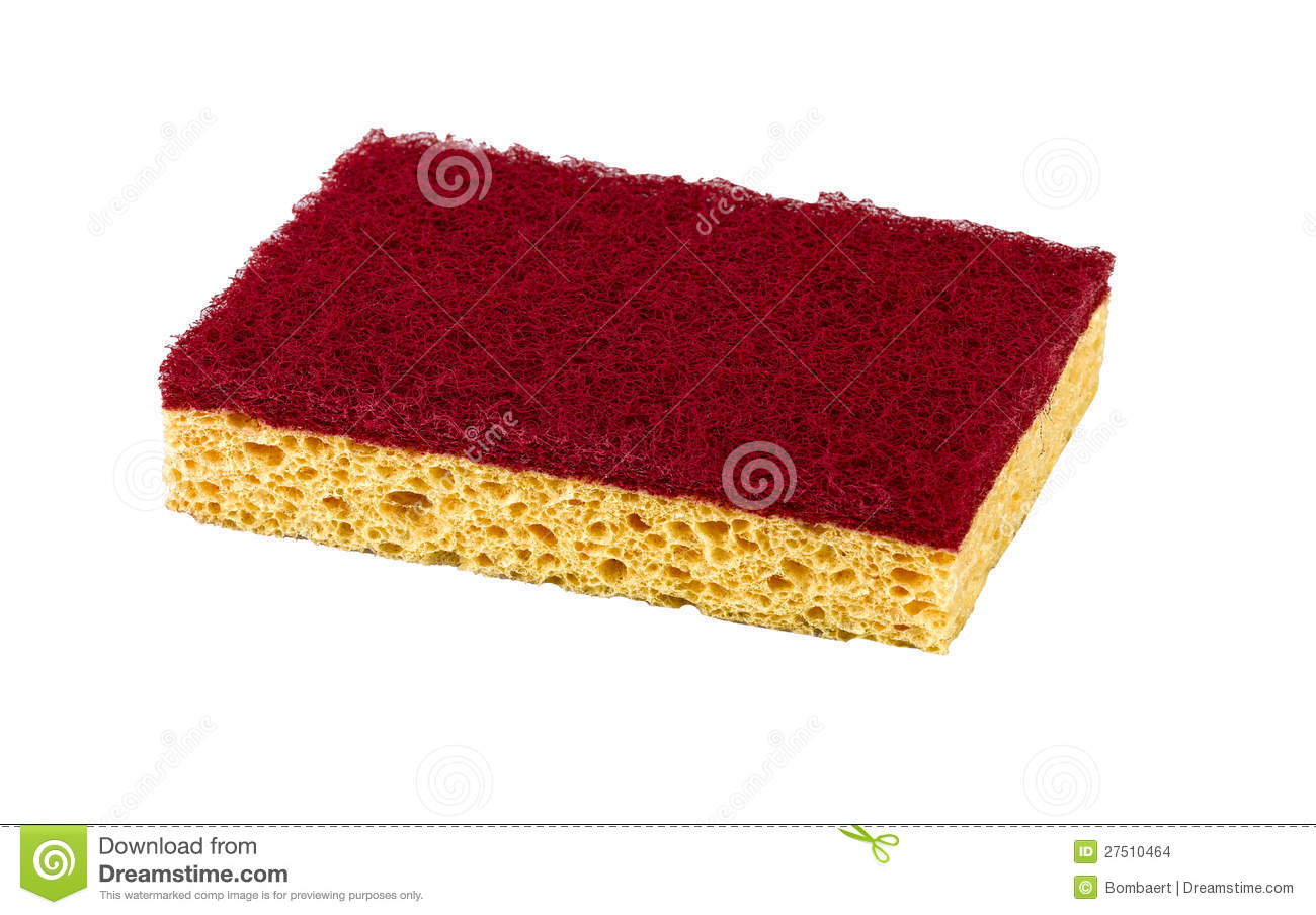 A kitchen sponge isolated