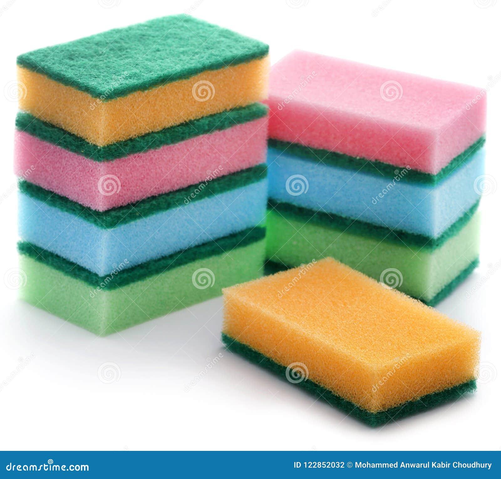 Kitchen sponge with scotch brite