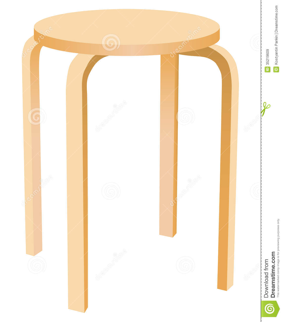 Kitchen Stool Royalty Free Stock Images Image 35219609 : kitchen stool classic round wooden vector illustration 35219609 from dreamstime.com size 1144 x 1300 jpeg 65kB