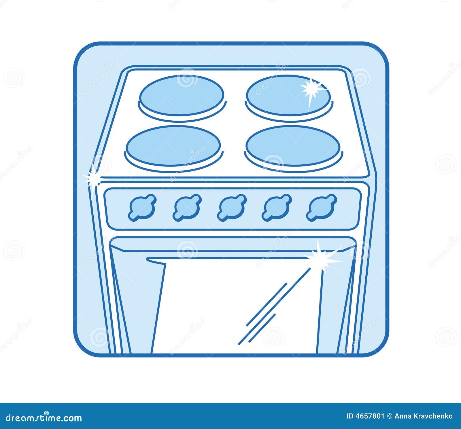 Kitchen Stove Icon Stock Vector Illustration Of Surface 4657801