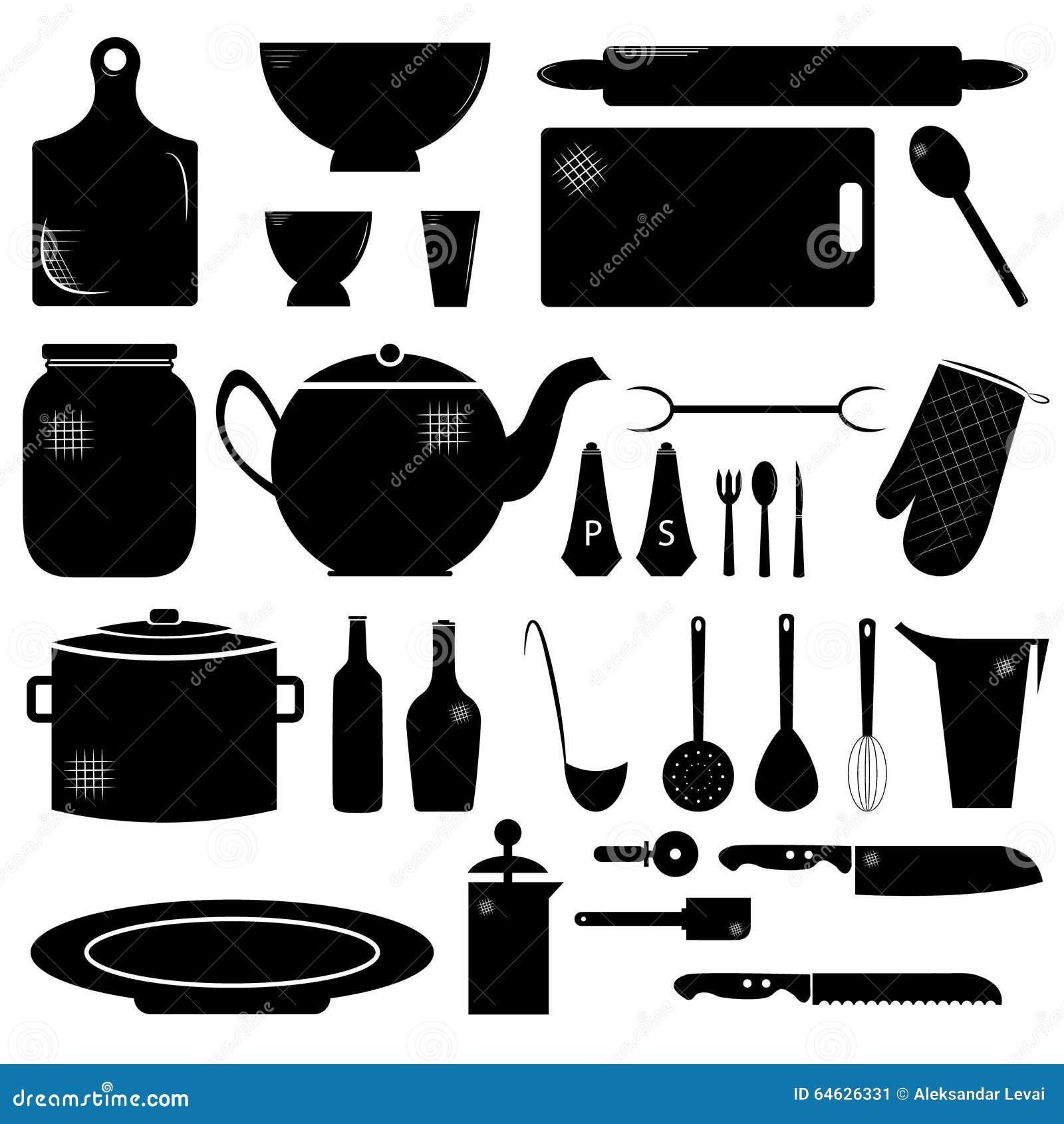 Kitchen stuff stock illustration. Illustration of symbol - 64626331