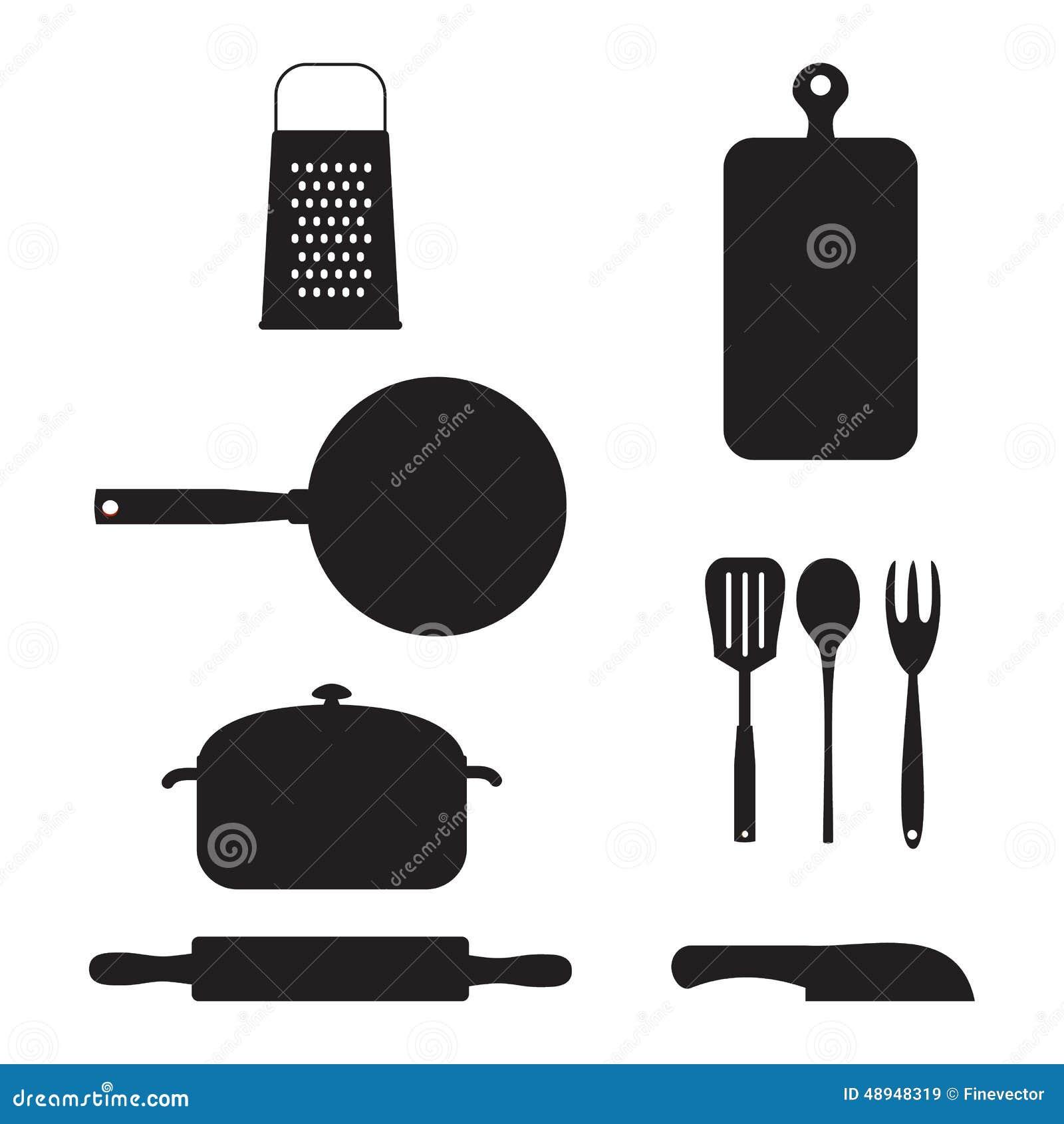 Kitchen Stuff. Vector Illustration. Stock Vector - Illustration of ...