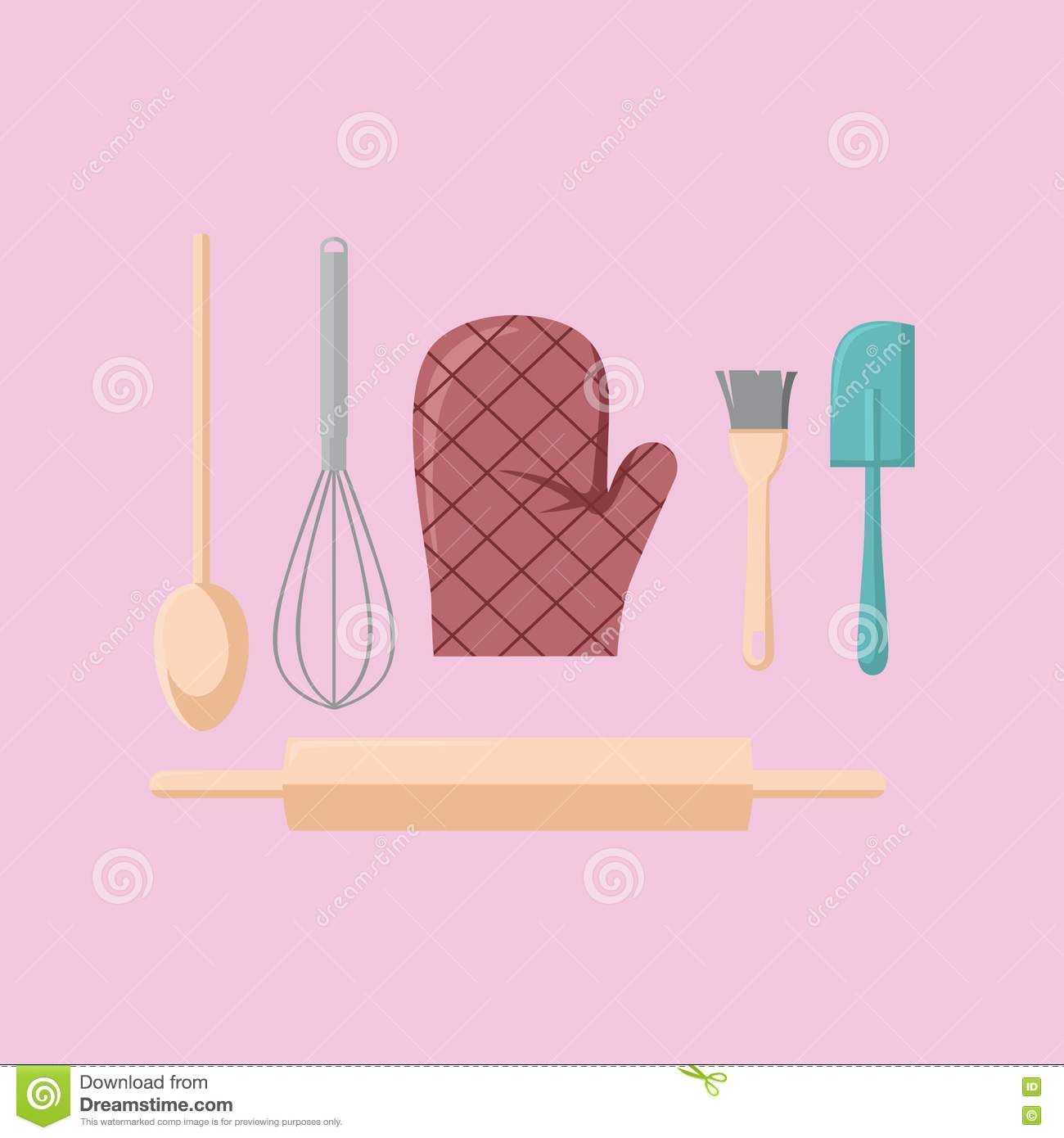kitchen stuff vector stock vector image 76828069