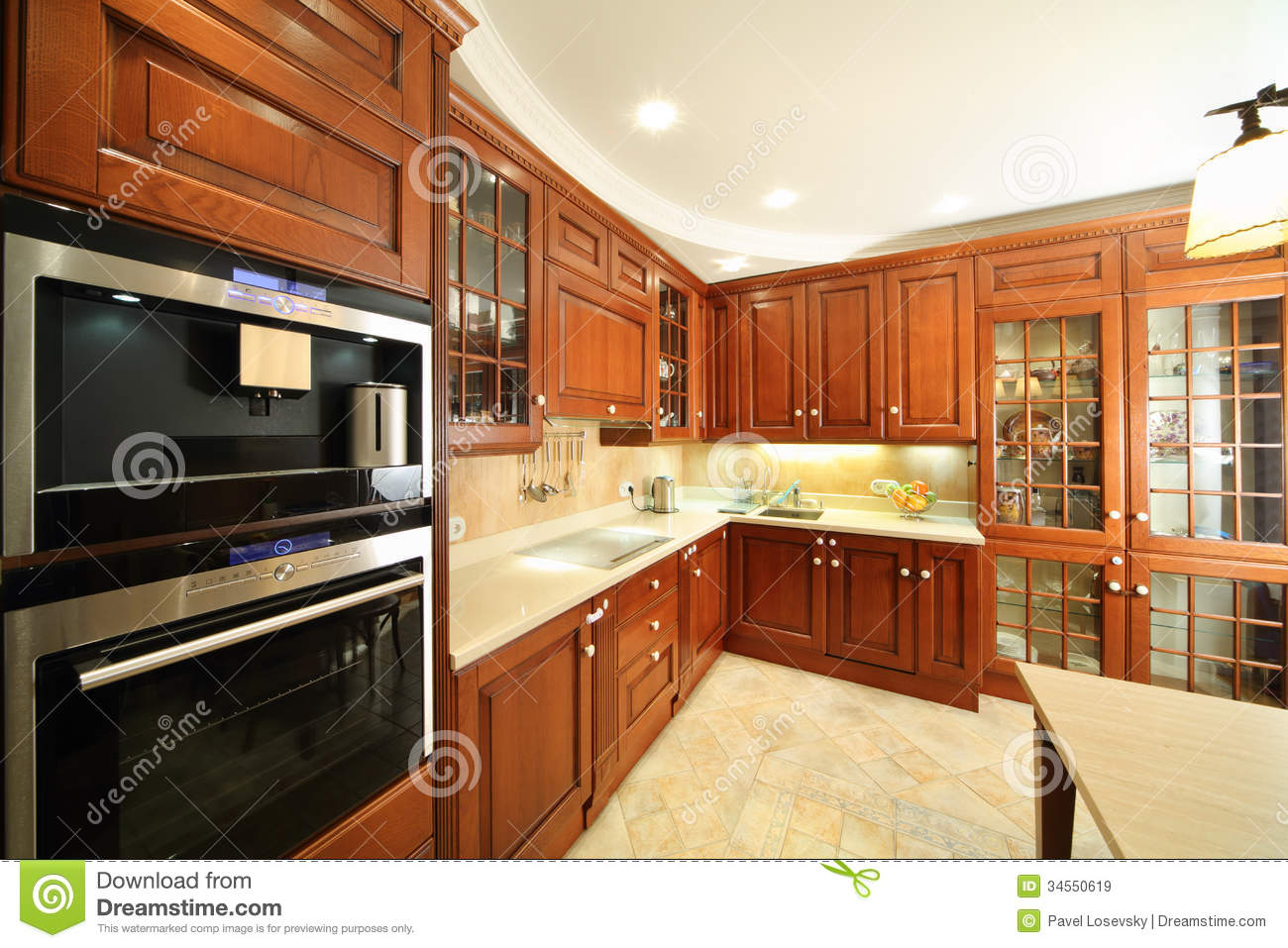 Kitchen with stylish simple furniture royalty free stock for Muebles elegantes