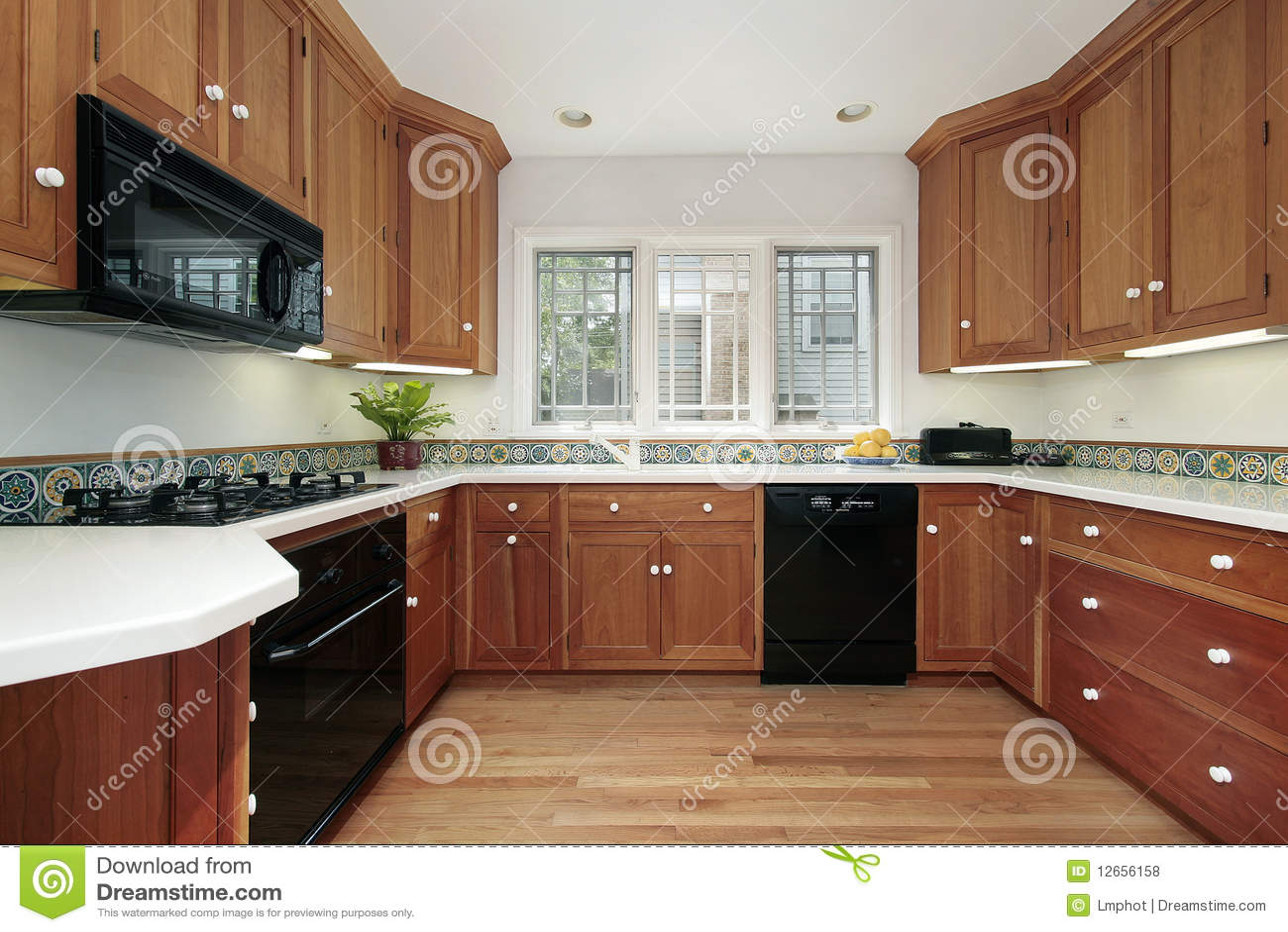 kitchen in suburban home royalty free stock photos image 12656158