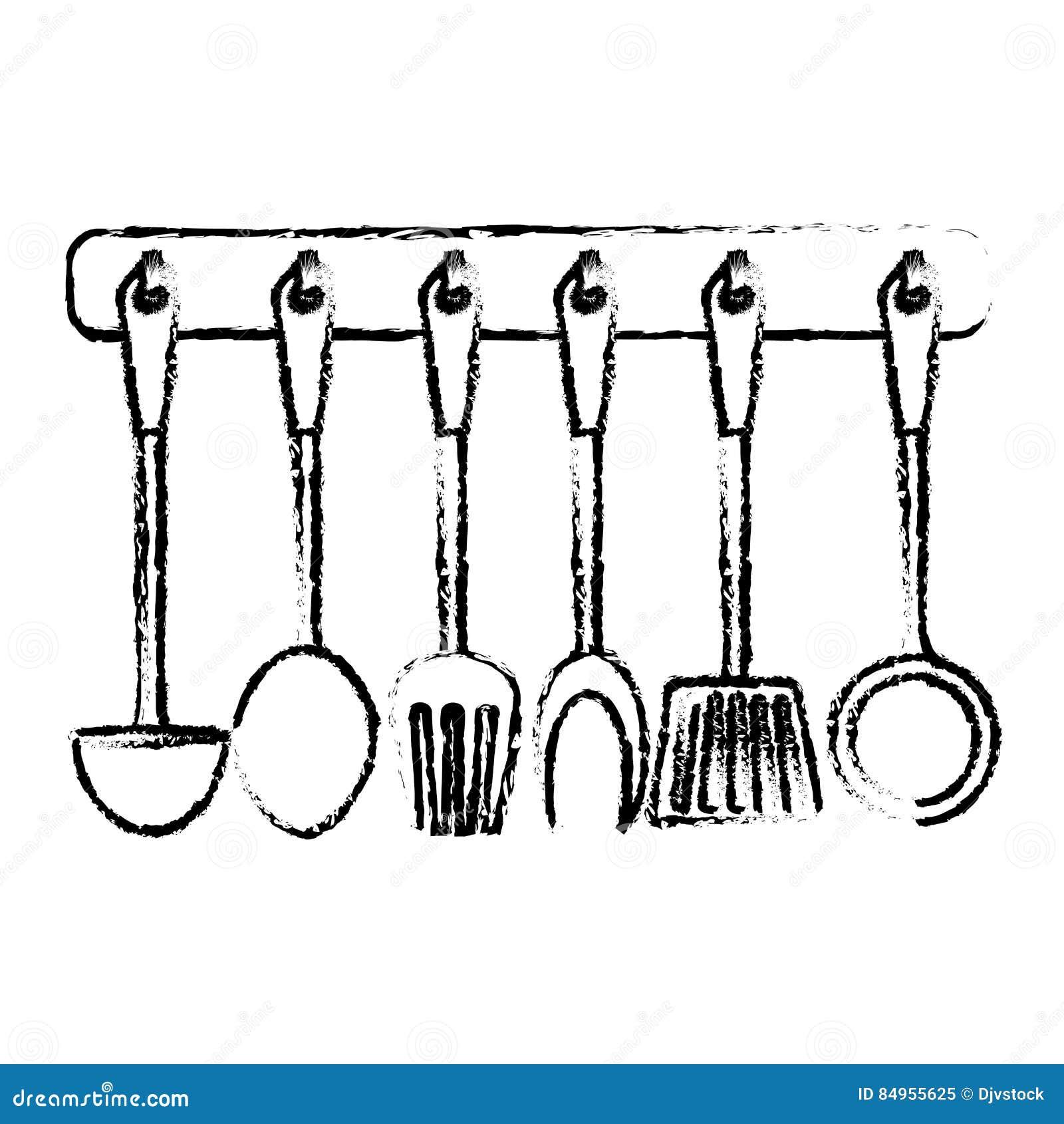 Kitchen Supplies Icon Image Stock Illustration