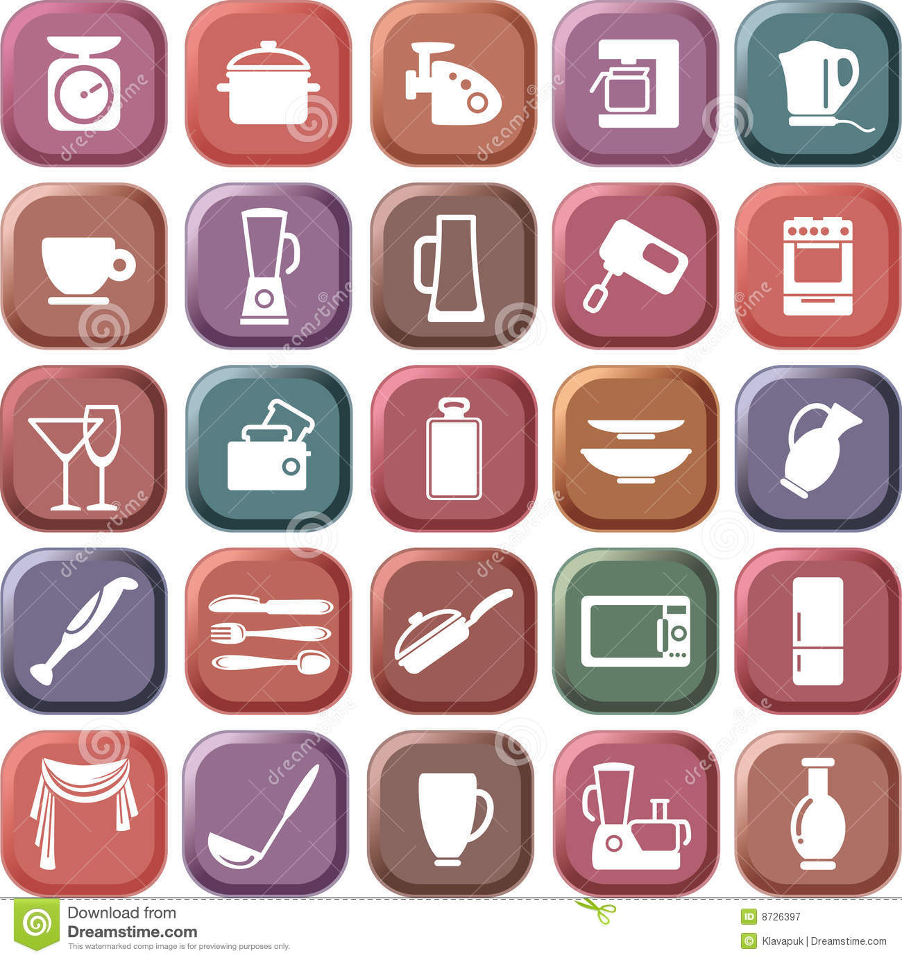 Kitchen Symbols Royalty Free Stock Photography Image