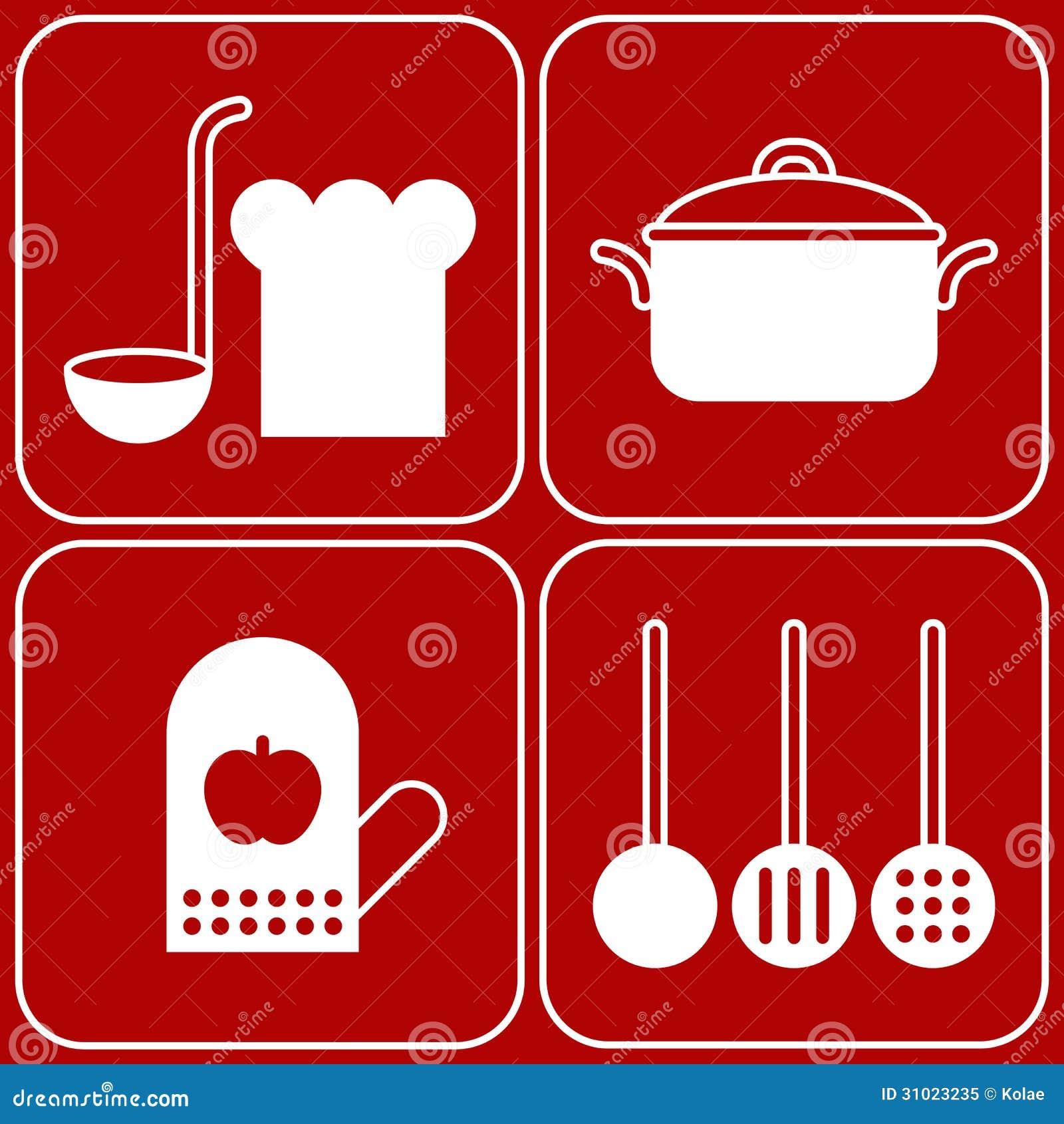 Kitchen Appliances Blogs Kitchen Symbols Royalty Free Stock Photo Image 31023235