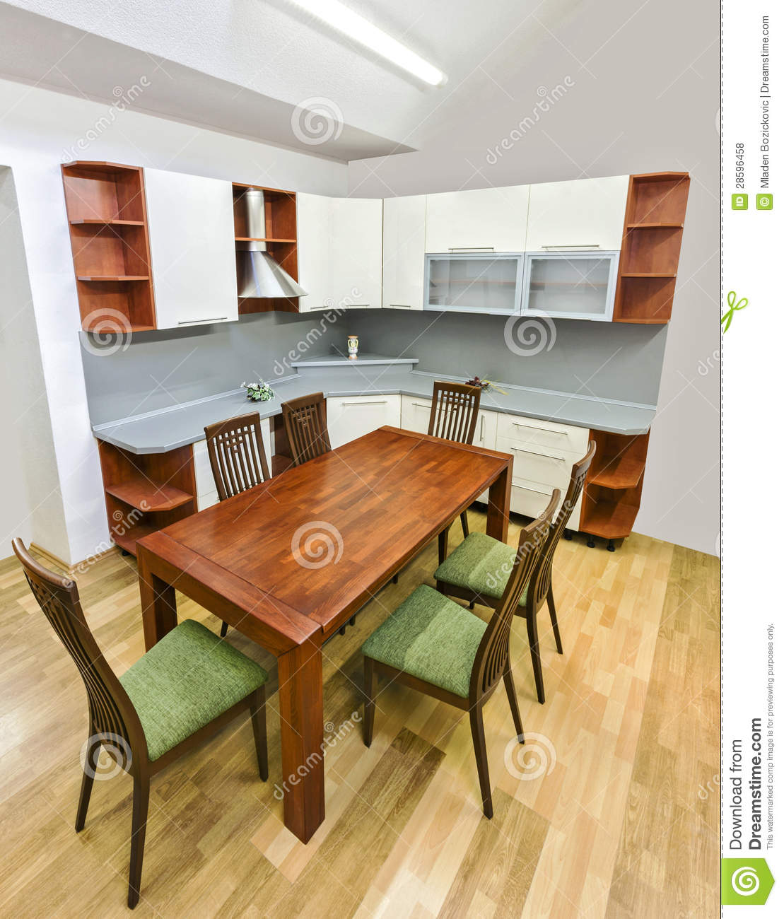 Kitchen With Table And Chairs Stock Photo Image Of Chairs Home 28596458