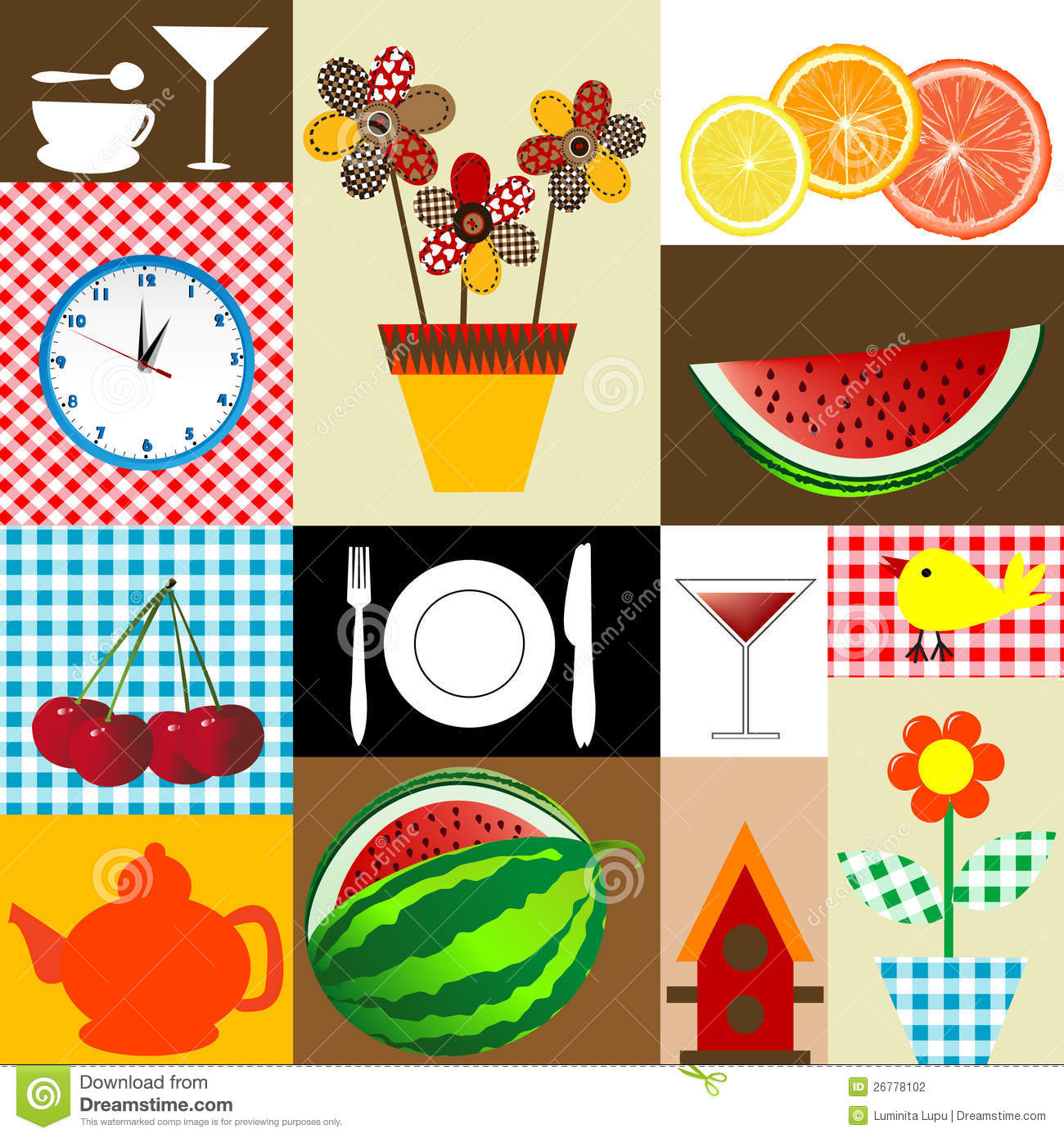 Kitchen table cloth design stock vector image of pattern for Table design cloth