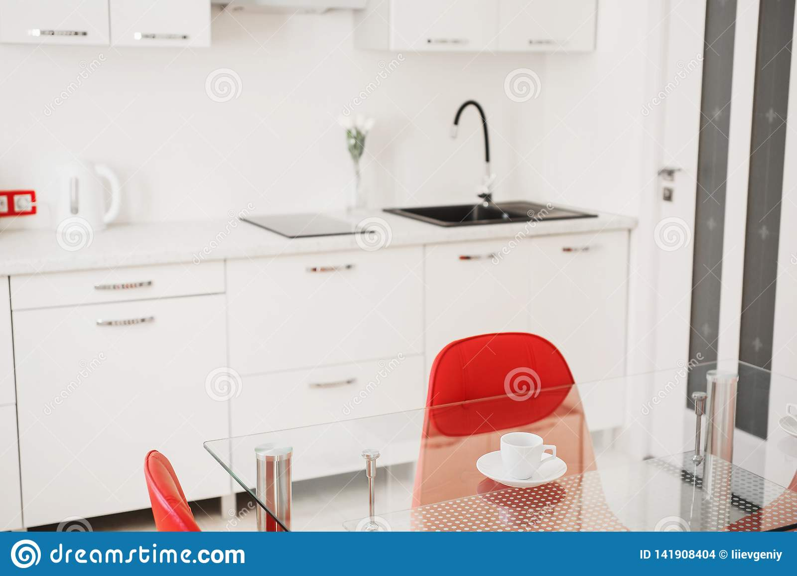 Fantastic Kitchen Table With Red Chair Modern Apartment Coffee Cup Bralicious Painted Fabric Chair Ideas Braliciousco