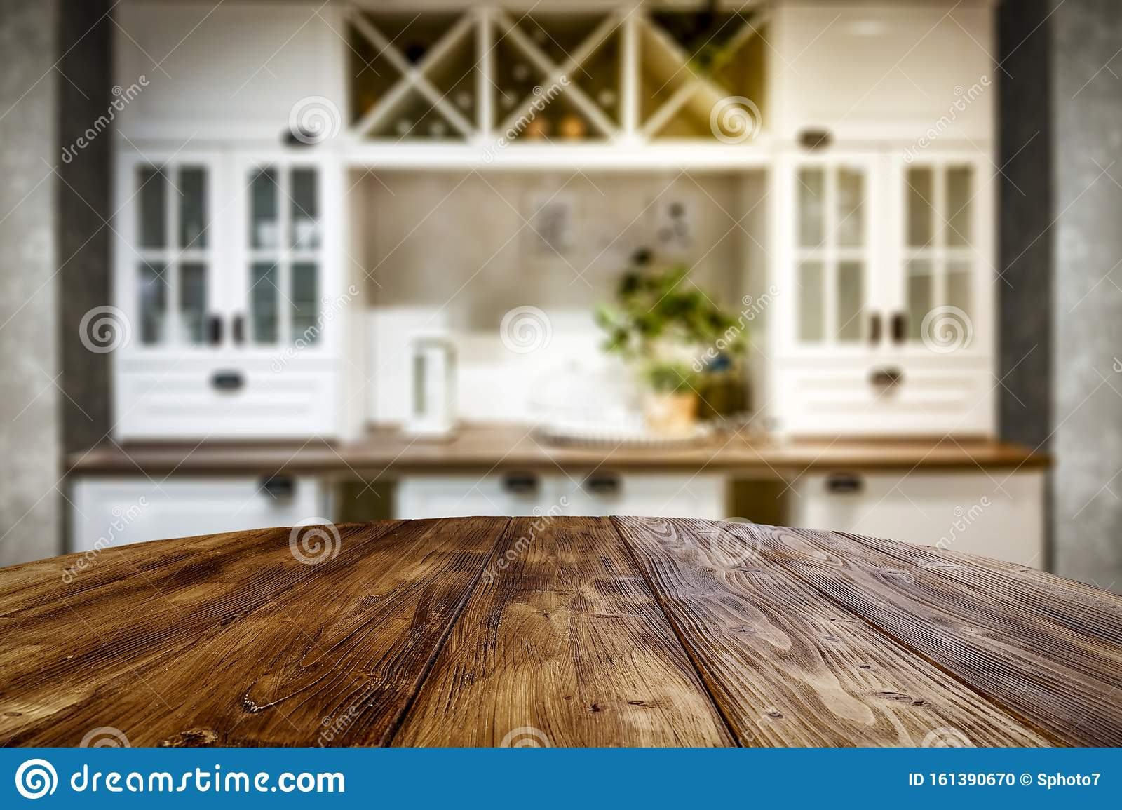 Kitchen Table Top With Empty Space For You Products Or Decoration ...