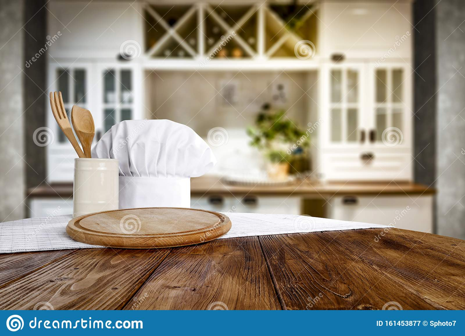 kitchen table top with empty space for you products or